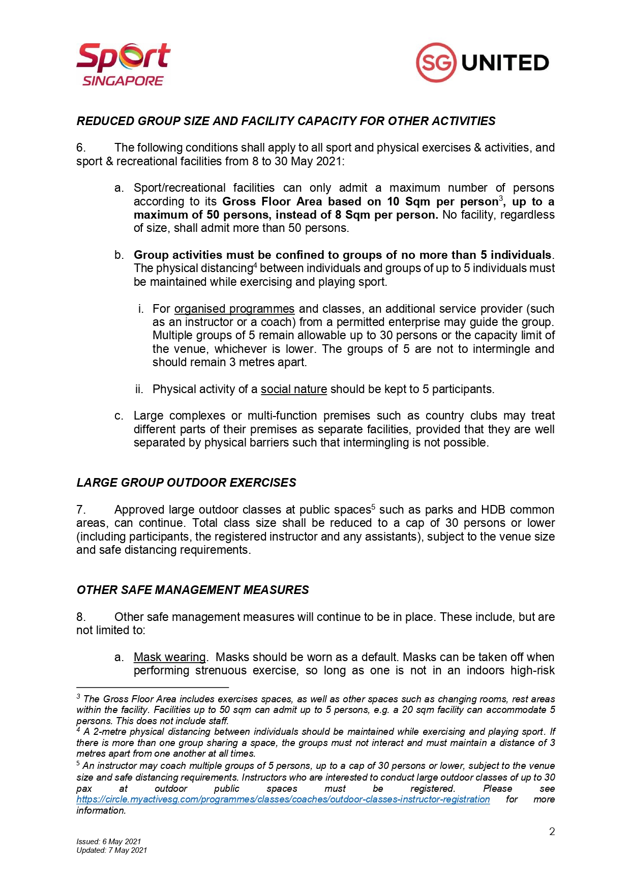 (Updated As Of 7 May 2021) Stricter Safe Management Measures For Sport And Physical Exercise and Activity (8 to 30 May)_pages-to-jpg-0002