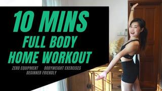 10 MINS FULL BODY WORKOUT AT HOME l No Equipments l Beginner Friendly Thumbnail