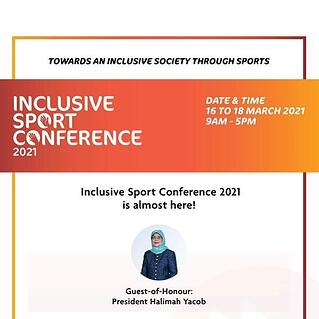 Opening remarks by President Halimah Yacob at the Inclusive Sport Conference 2021