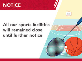 Closure of all sport and recreation facilities