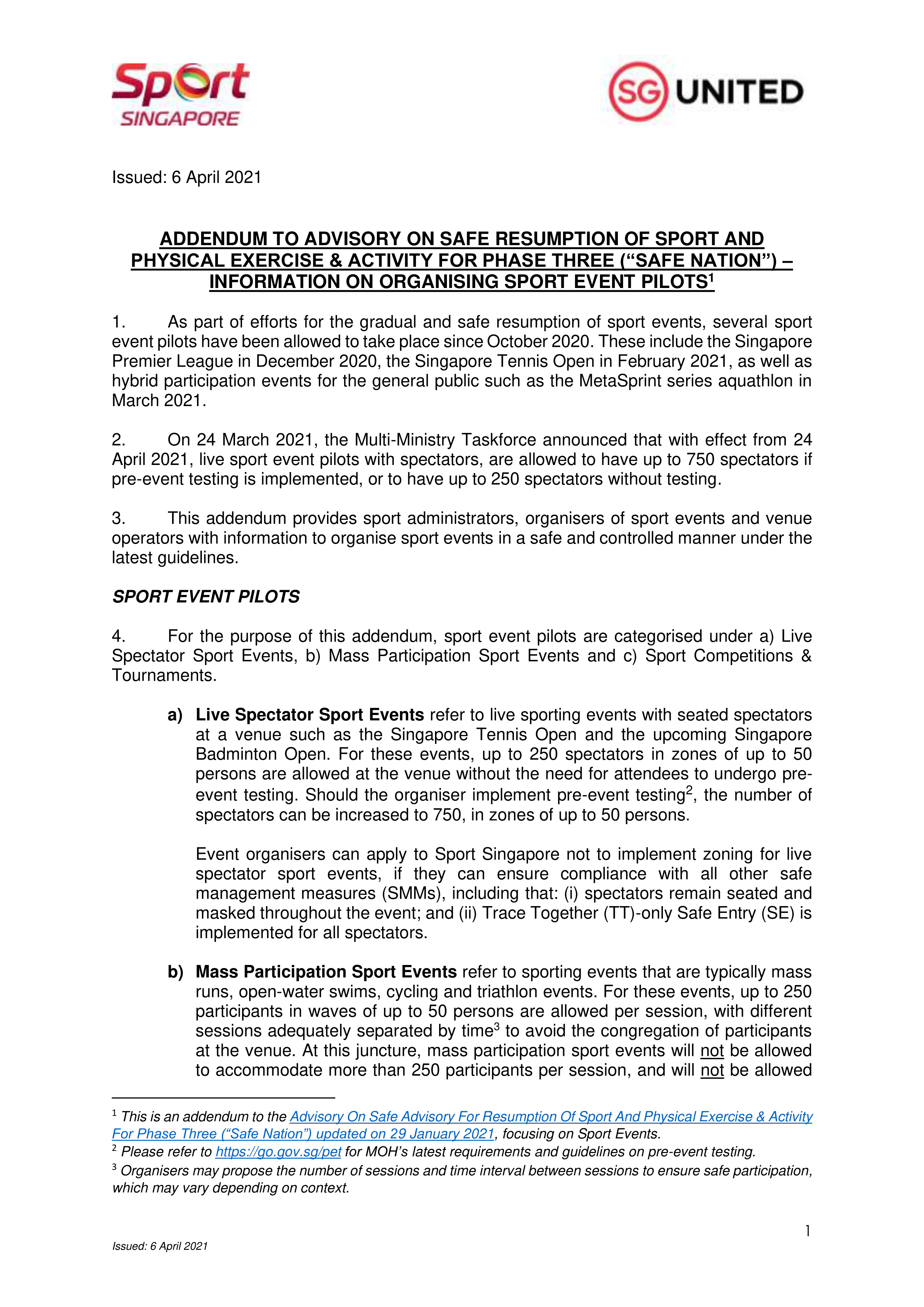 Addendum to Advisory_Info on Sport Event Pilots copy