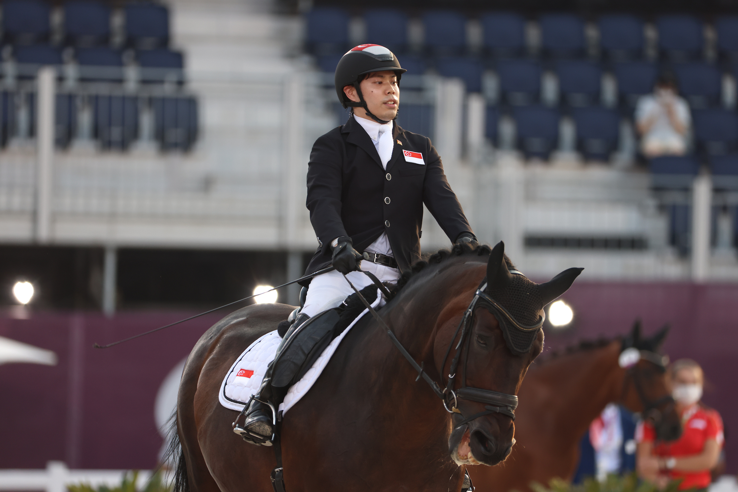 Tokyo 2020: TeamSG Para-Equestrian Maximillian Tan puts up decent Individual Dressage showing on 3rd Paralympic outing!