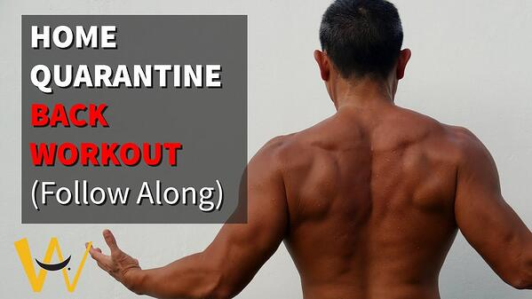 Back Workout Follow Along (No Equipment) Stay At Home Quarantine?