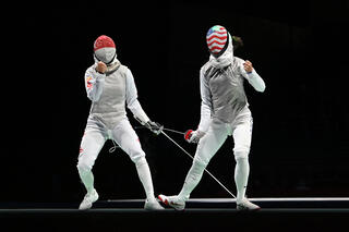 Tokyo 2020 : TeamSG Fencer Amita Berthier bows out after hard fought opening defeat to World No 5, Kiefer Lee!