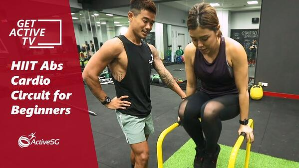 HIIT Abs Cardio Circuit for Beginners with Kenneth Seow | Get Active TV