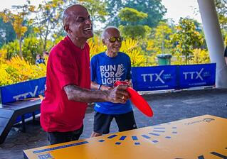 TTX (Outdoor Table Tennis) in Singapore, attracts players of all ages