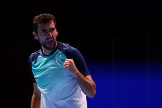 STO 3rd seed Cilic holds off tough Korean challenge to reach the semis!