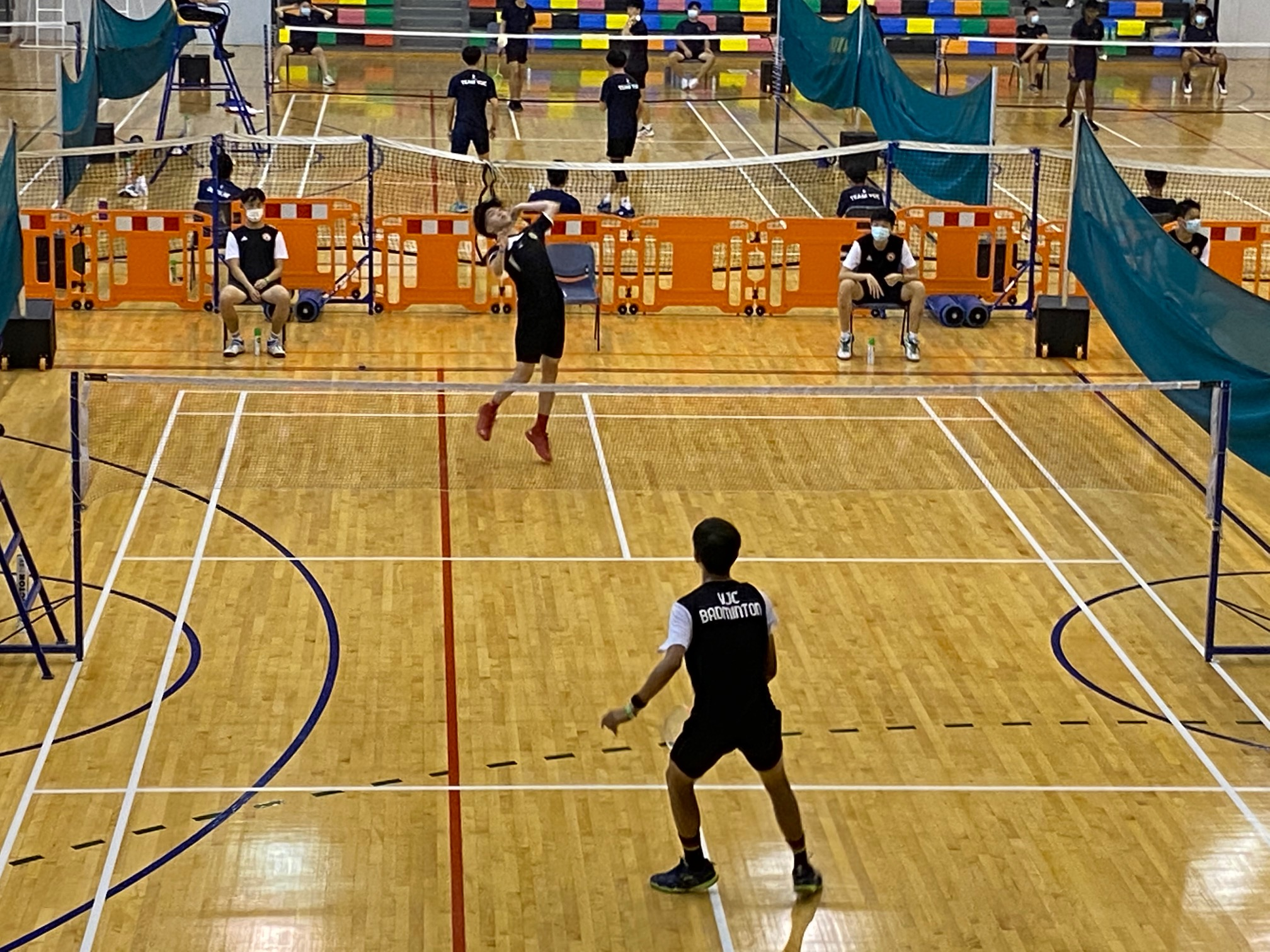 NSG A Div boys badminton - RI vs VJC first singles 2
