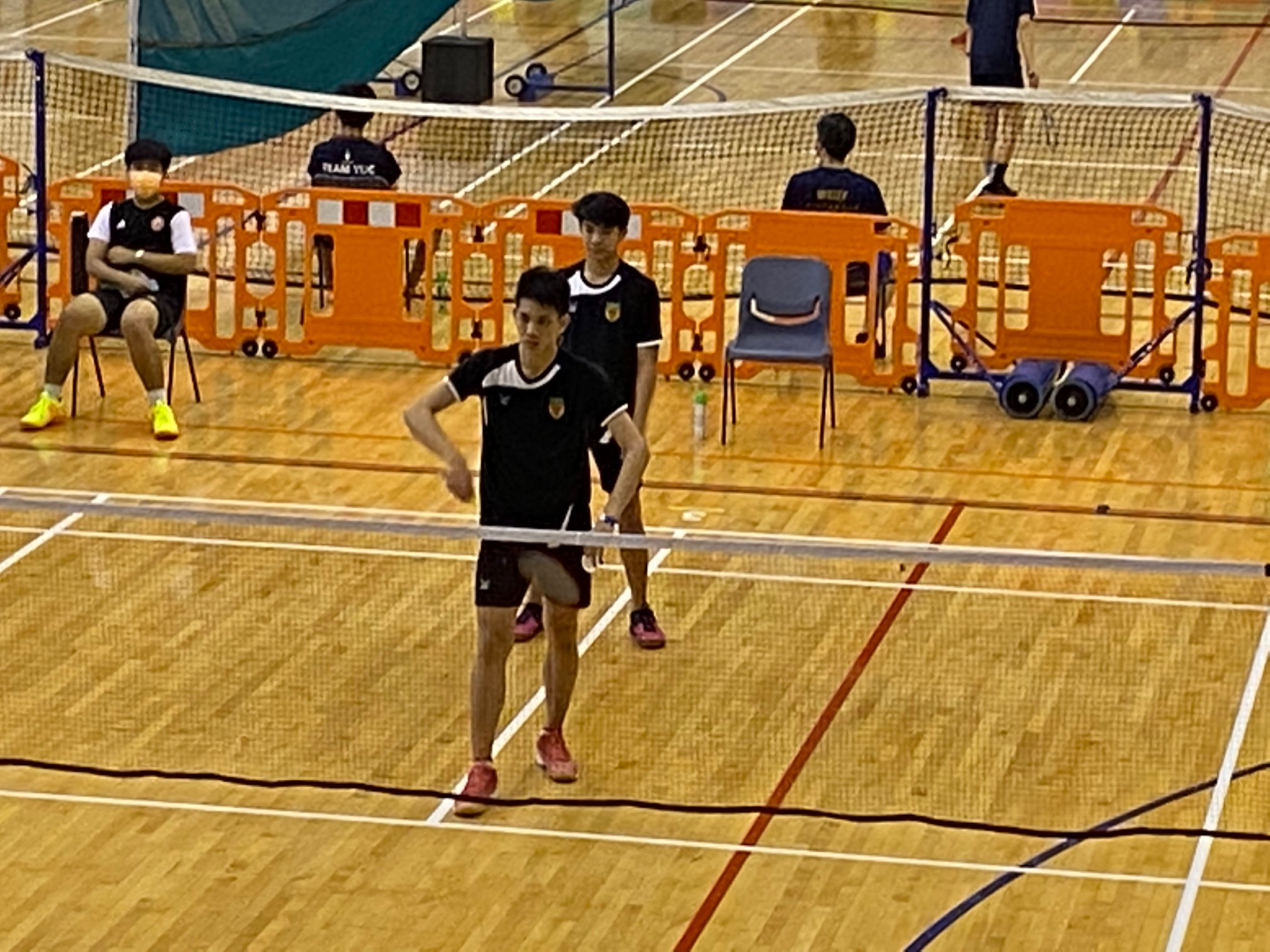 NSG A Div boys badminton - RI vs VJC second doubles RI duo