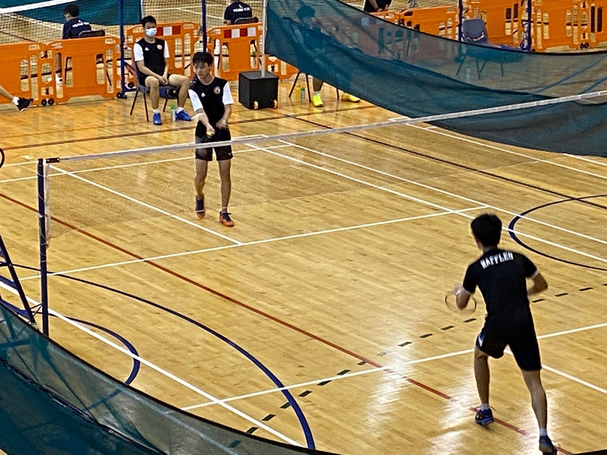NSG A Div boys badminton - RI vs VJC second singles