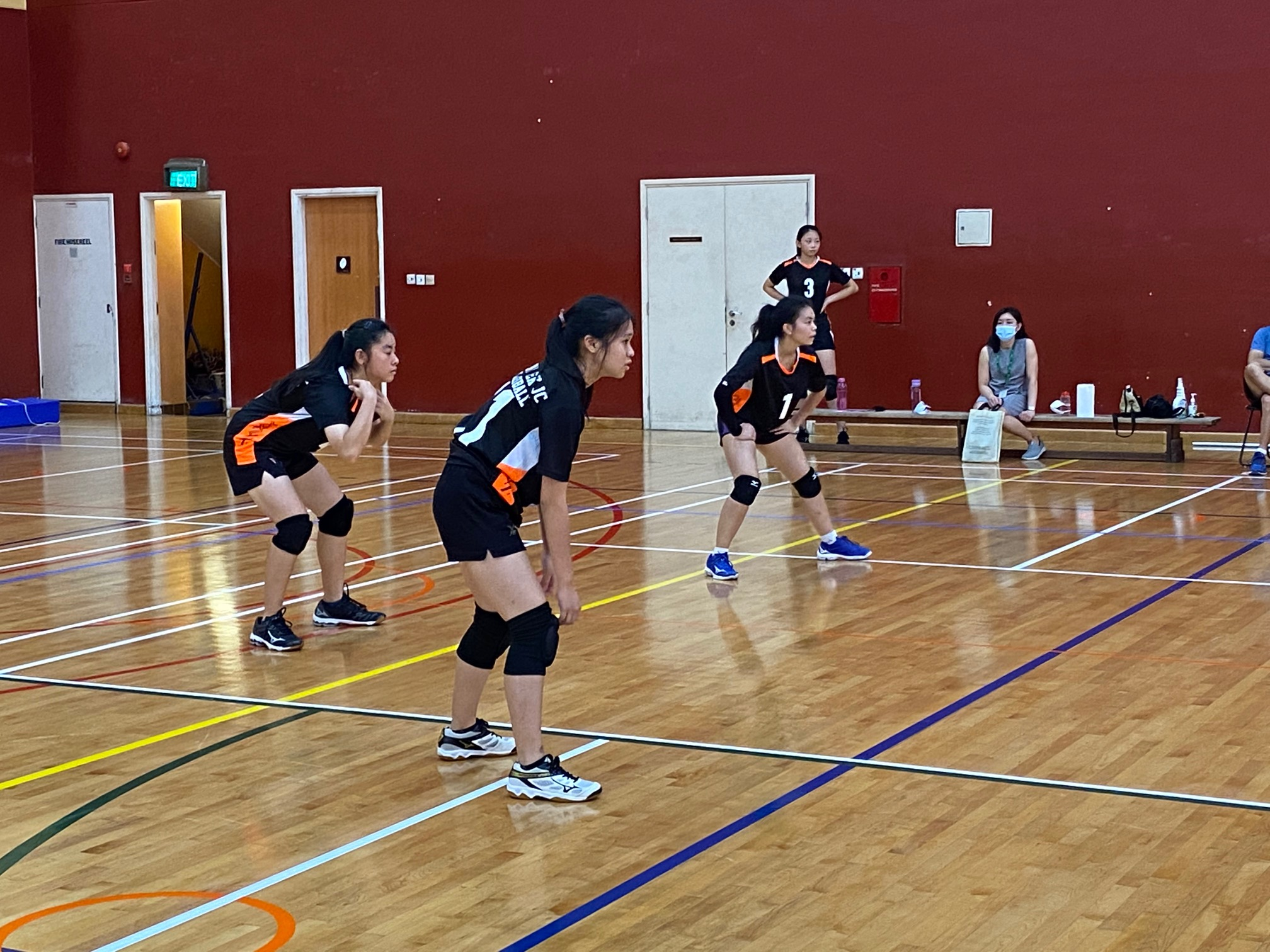 NSG A Div girls' volleyball prelim rd - ACJC (red) vs TJC (black) 6