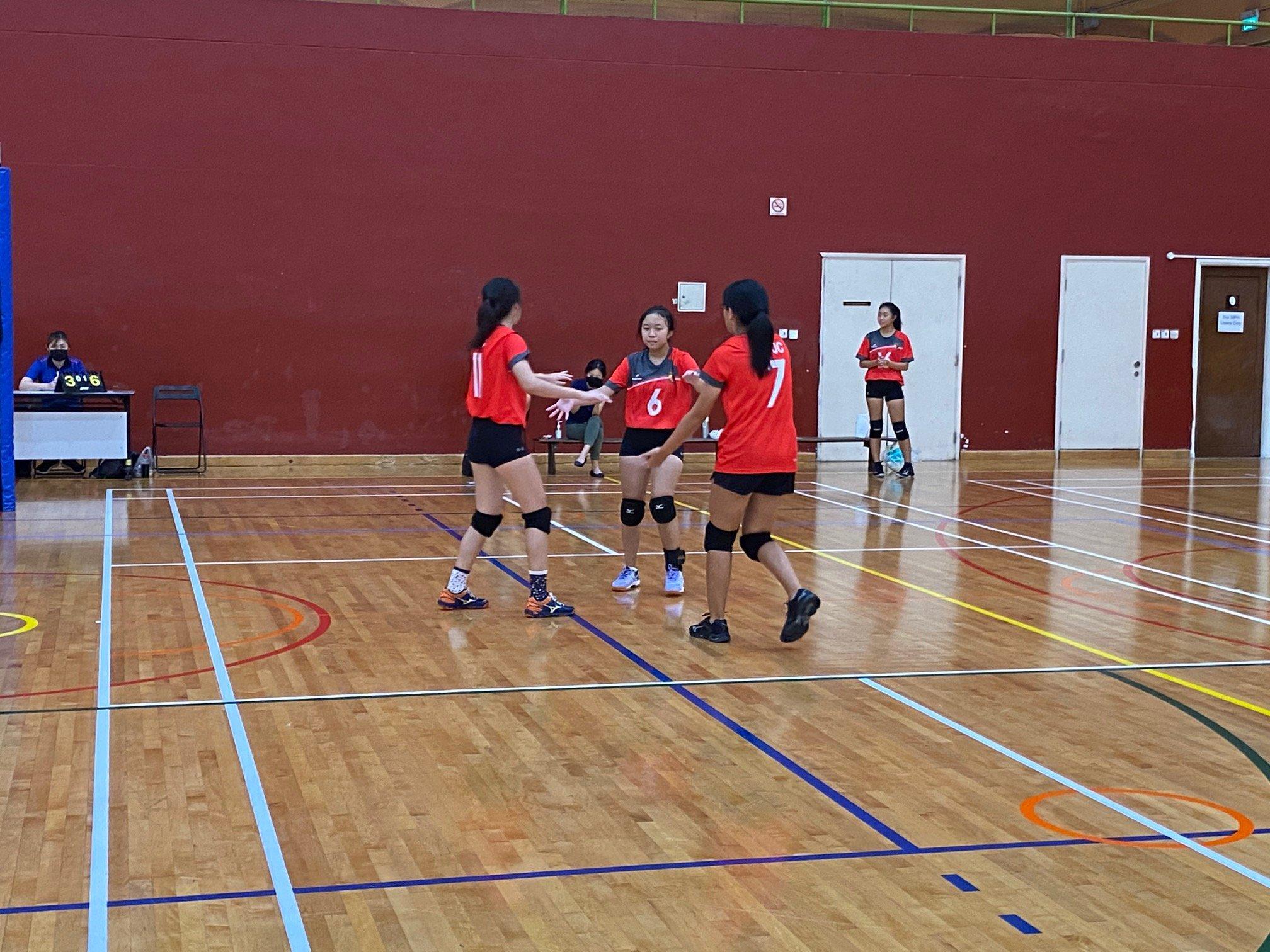 NSG A Div girls' volleyball prelim rd - ACJC (red) vs TJC (black) 9