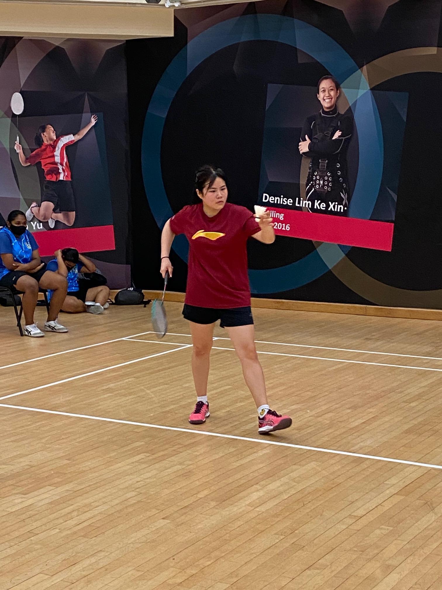 NSG B Div girls badminton - Compassvale (red) second singles