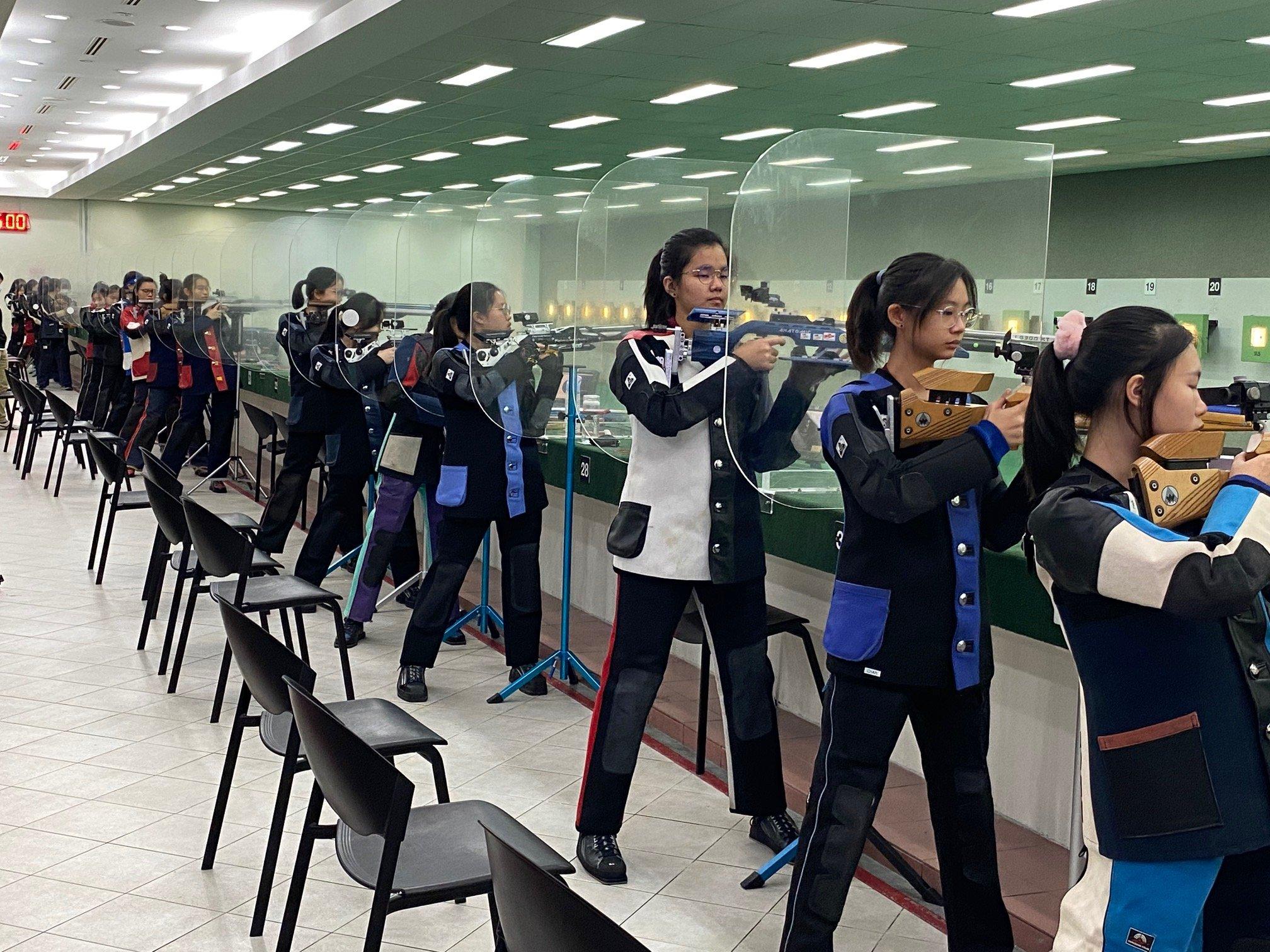 NSG B Div girls shooting championship