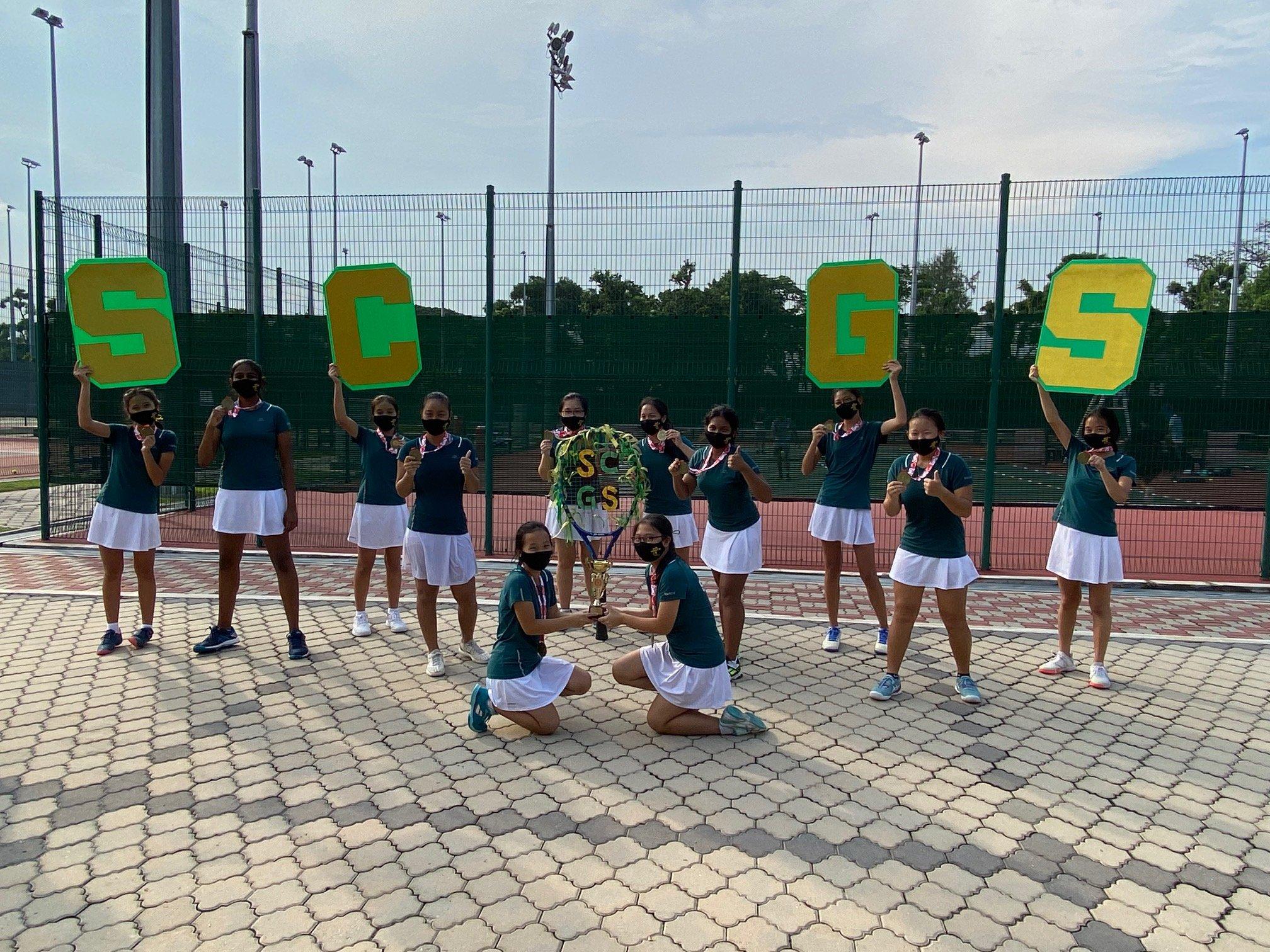 NSG B Div girls tennis final - winners SCGS-1