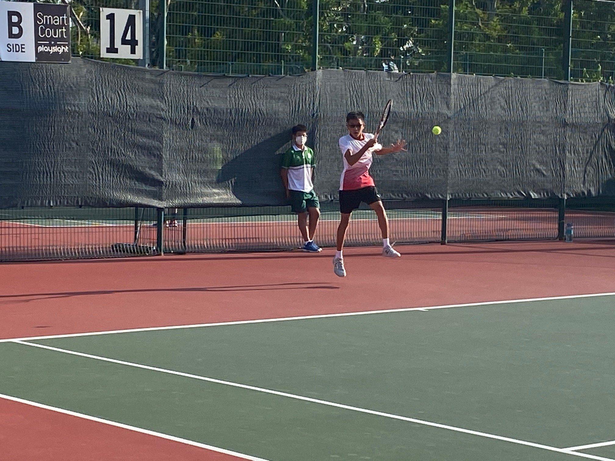 NSG B Division boys' tennis Victoria vs SJI 1st singles 2