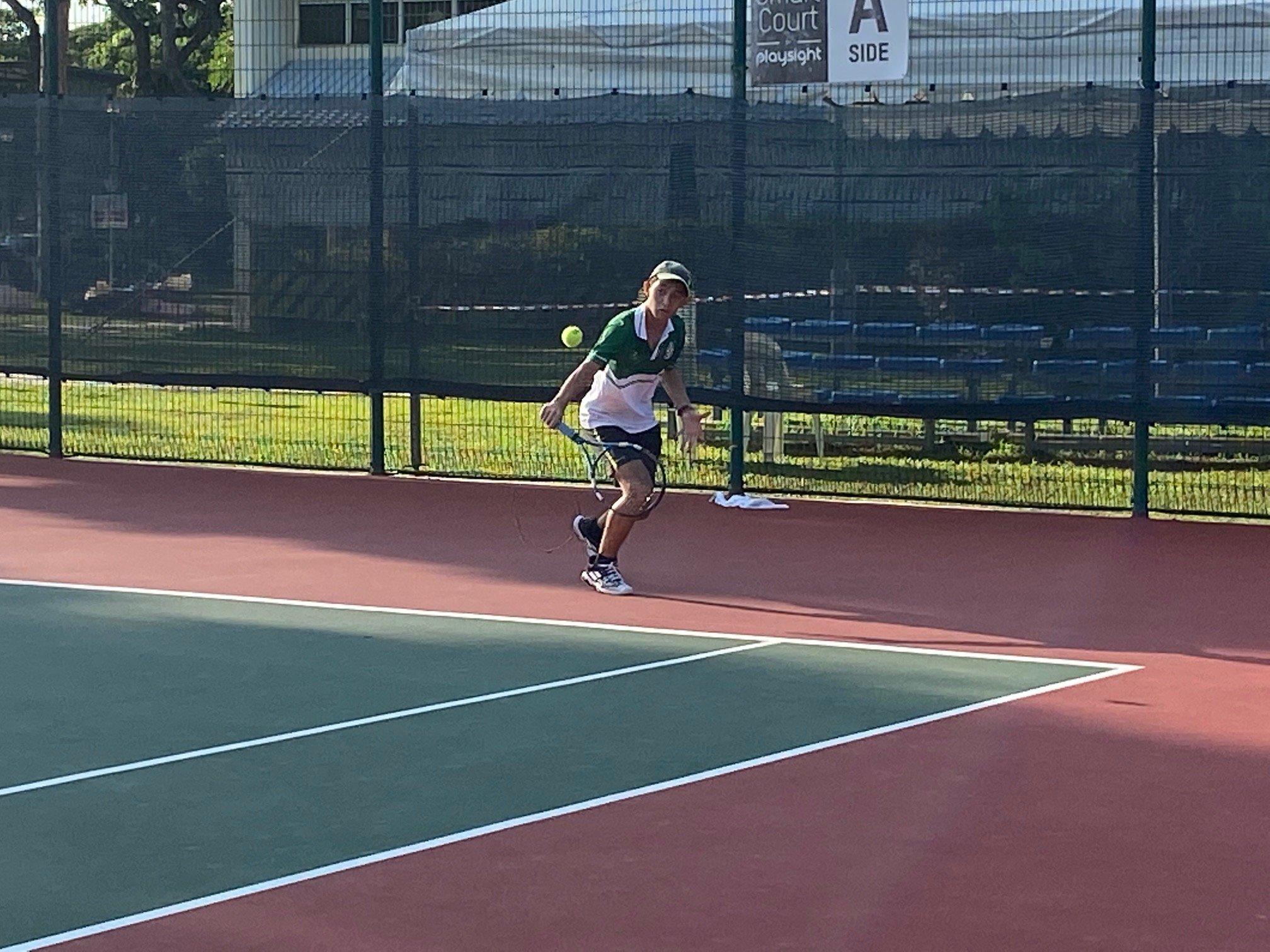 NSG B Division boys' tennis Victoria vs SJI 1st singles 3