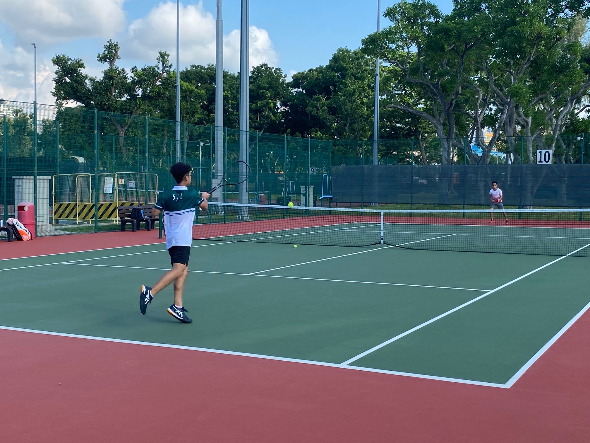 NSG B Division boys' tennis Victoria vs SJI 3rd singles