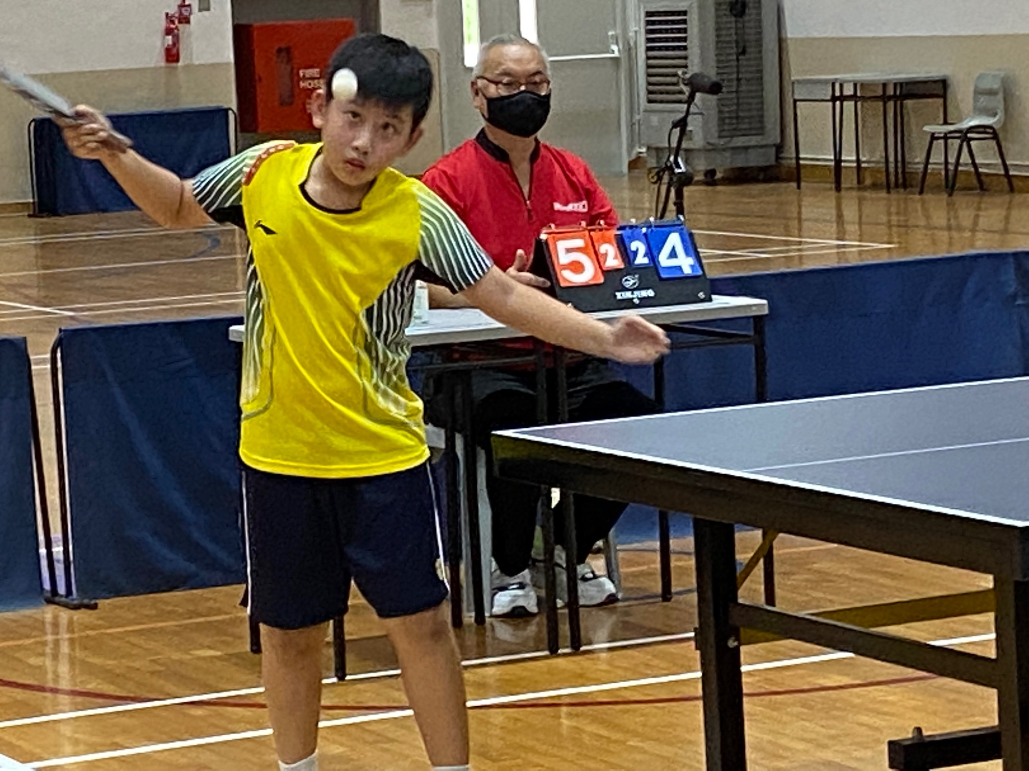 NSG East Zone Snr Div boys table tennis final - Kong Hwas Ang Ray Tze