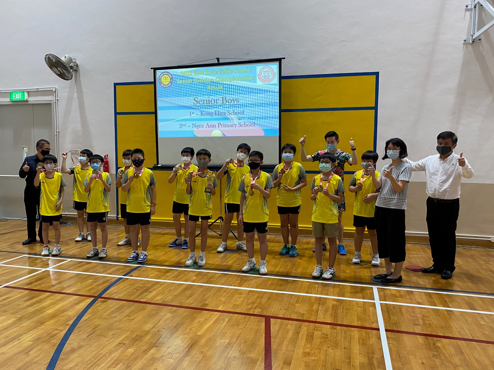NSG East Zone Snr Div boys table tennis final - champions Kong Hwa School