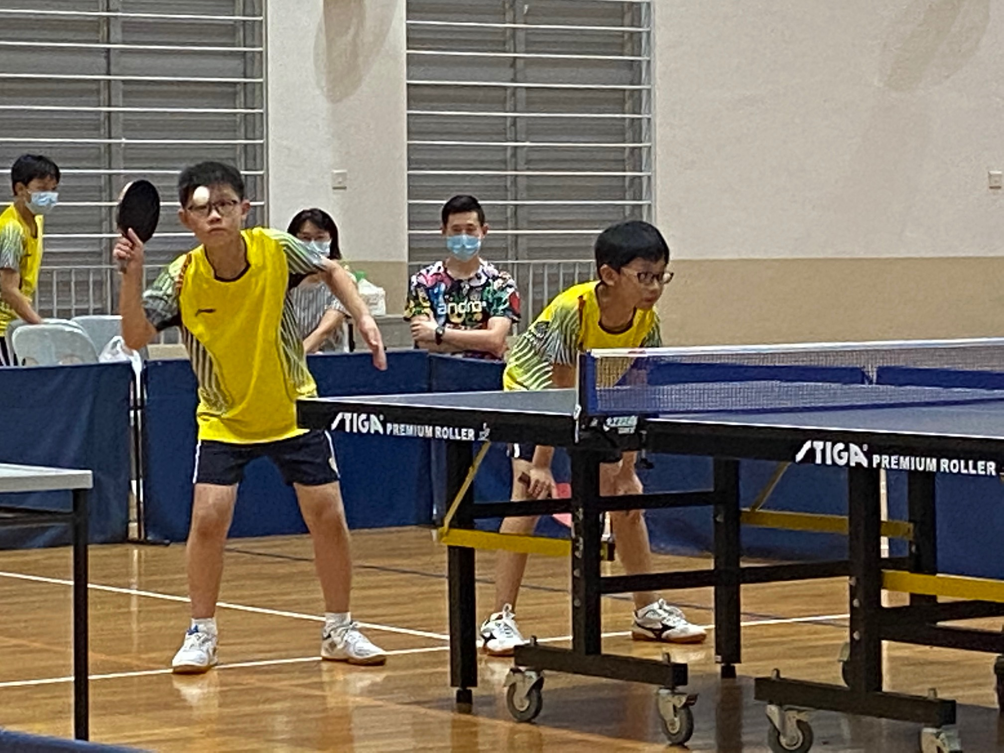 NSG East Zone Snr Div boys table tennis final - first doubles