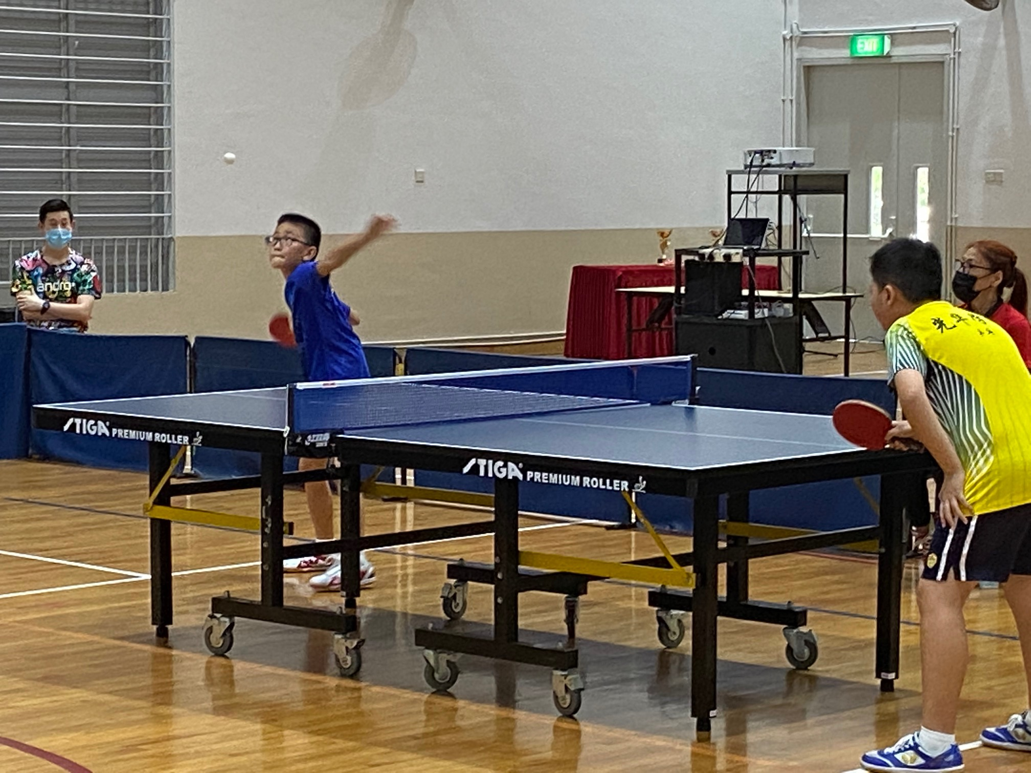 NSG East Zone Snr Div boys table tennis final - second singles