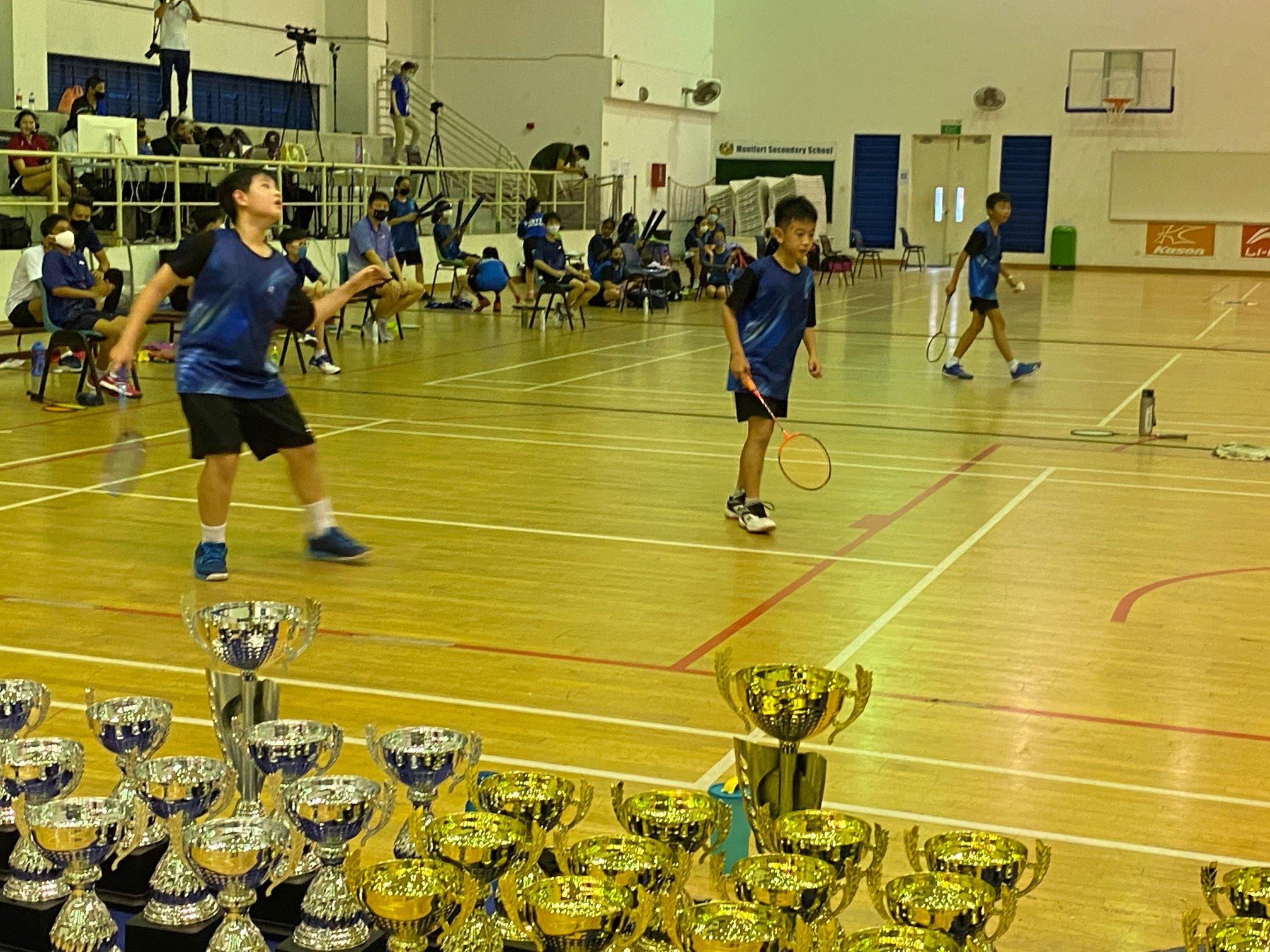 NSG Snr Div North Zone boys' badminton final - Rosyth second doubles-1
