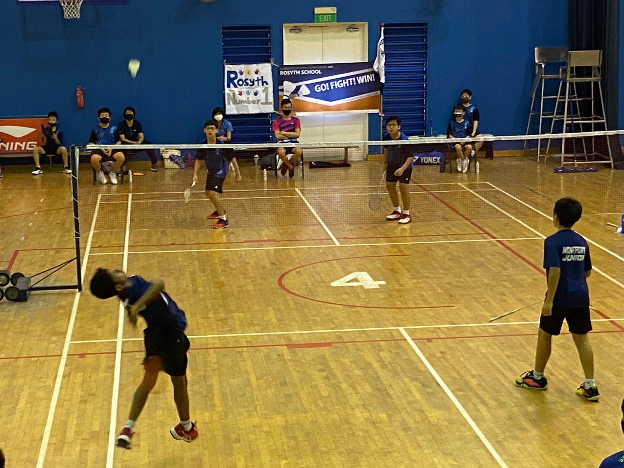NSG Snr Div North Zone boys' badminton final - first doubles