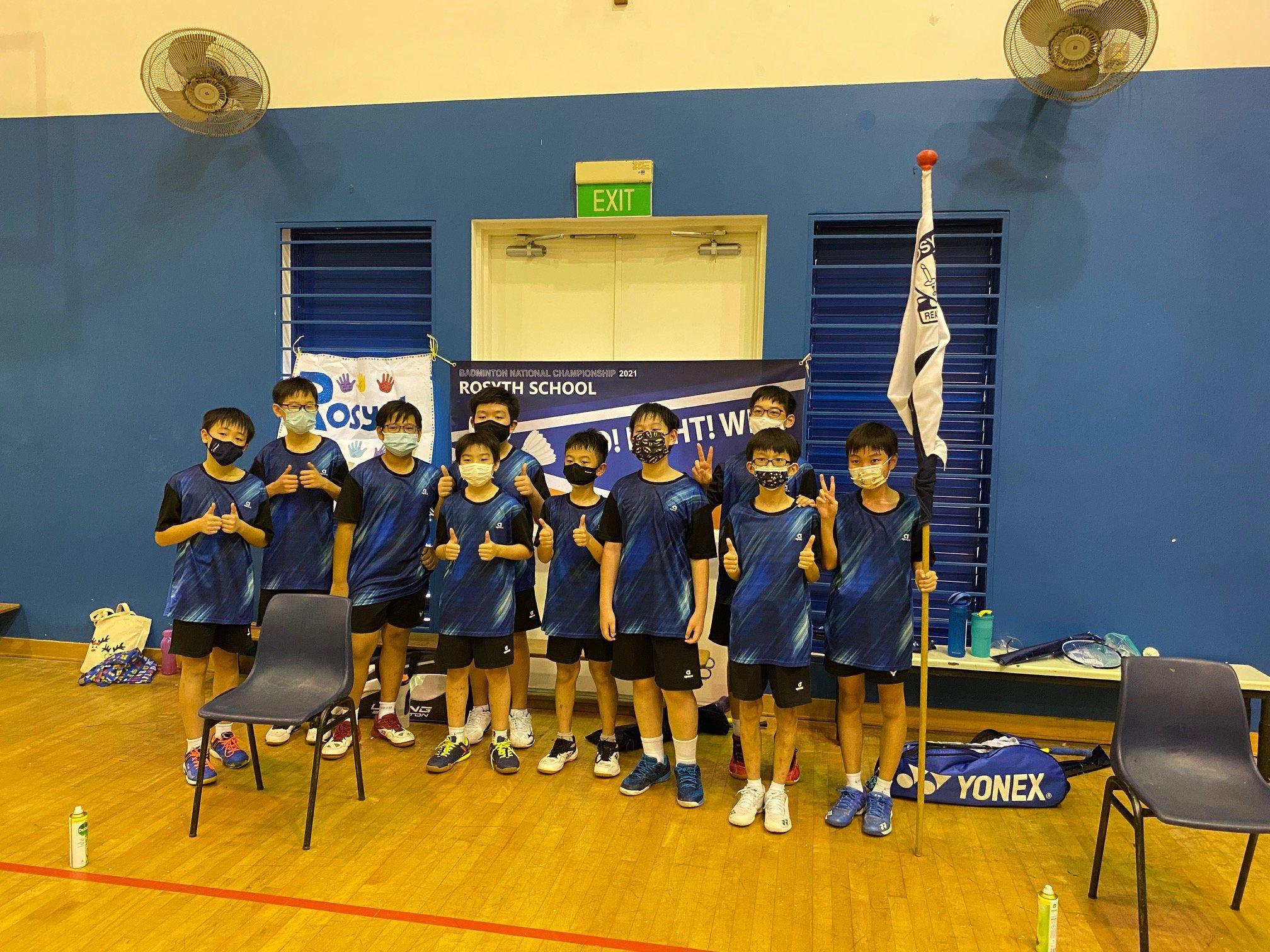 NSG Snr Div North Zone boys' badminton final - rosyth team