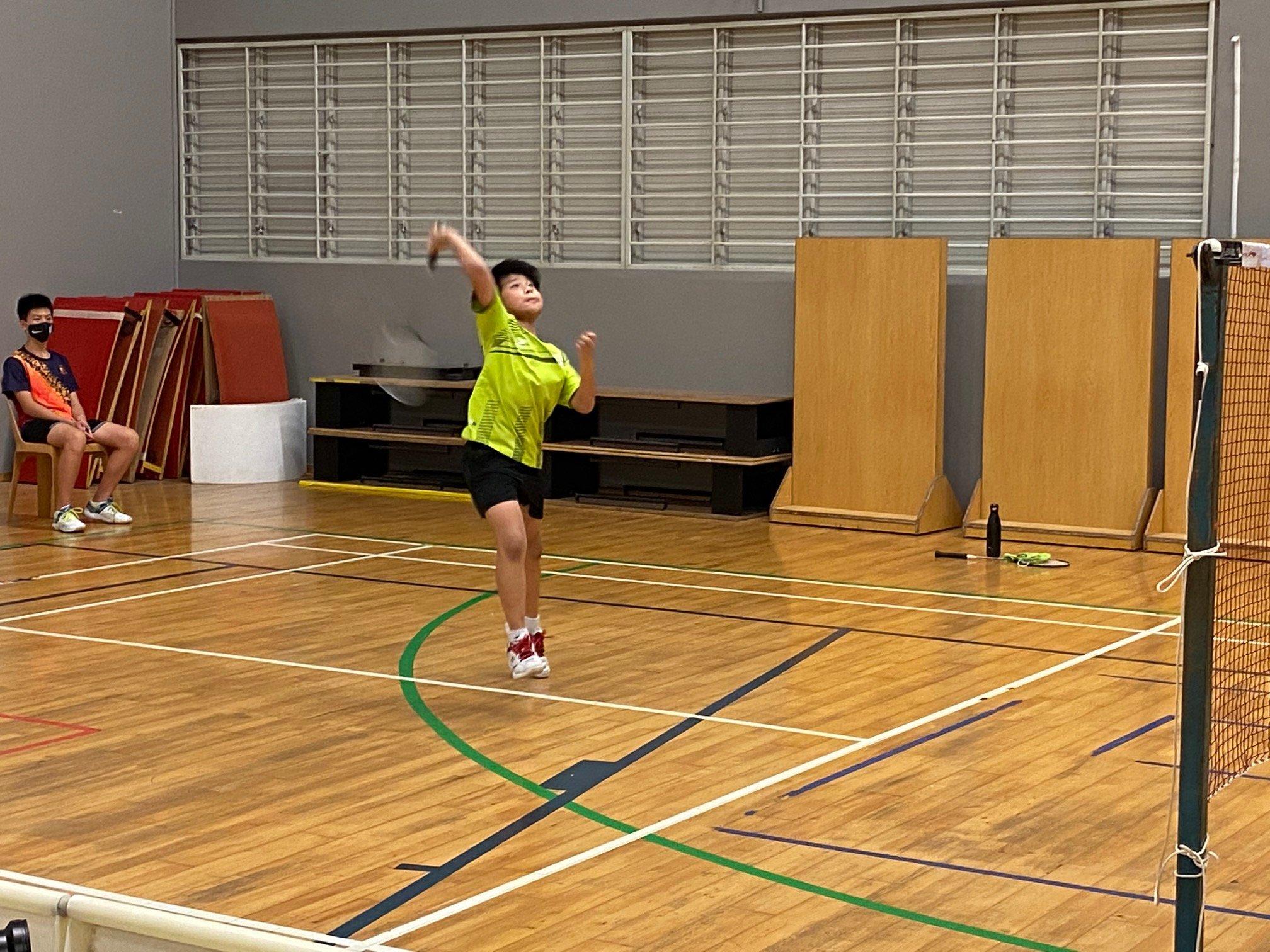 NSG Snr Div South Zone boys' badminton_ SJI Junior second singles