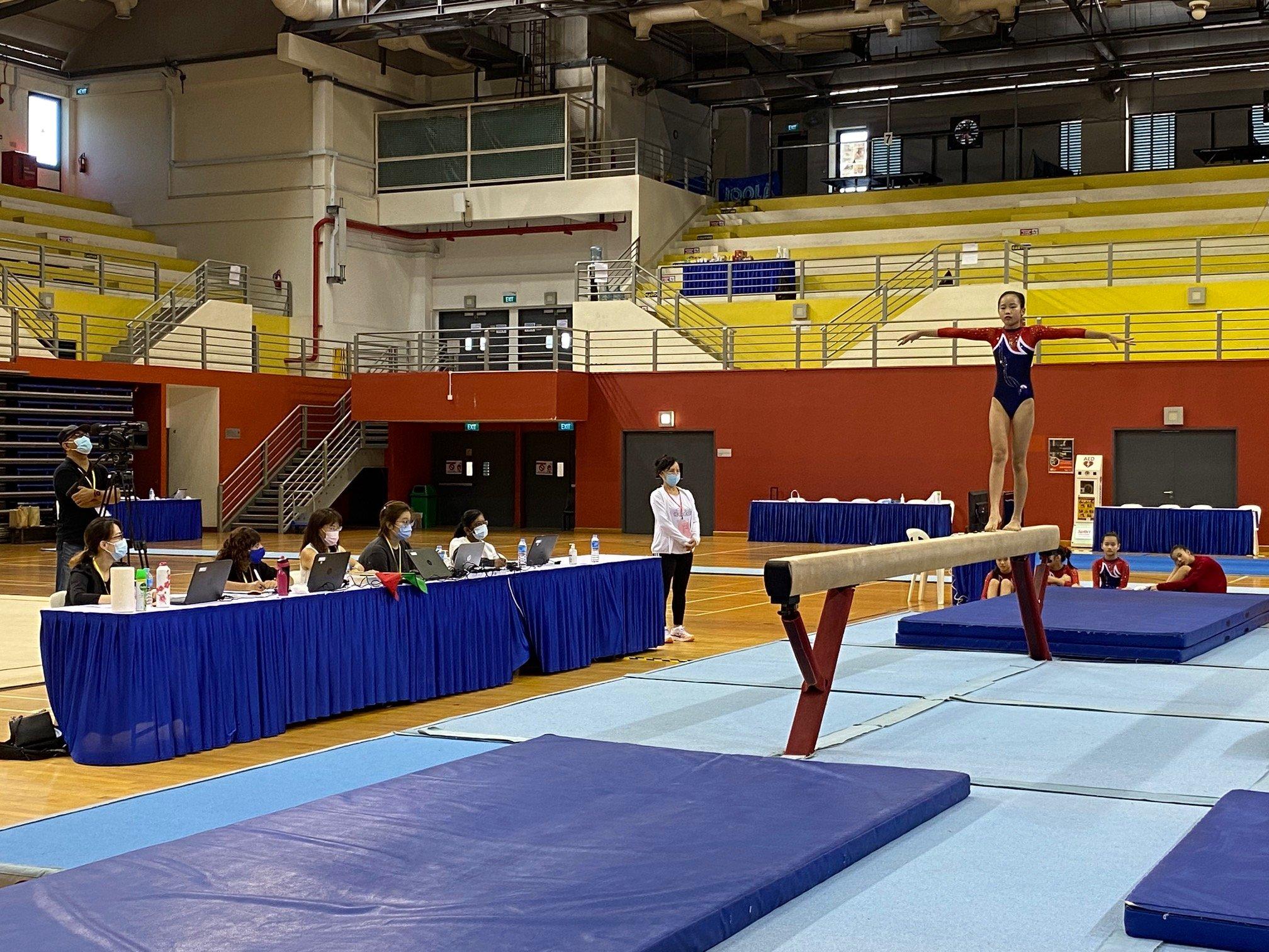 NSG Snr Div gymnastics - balance beam (Ai Tong) 2