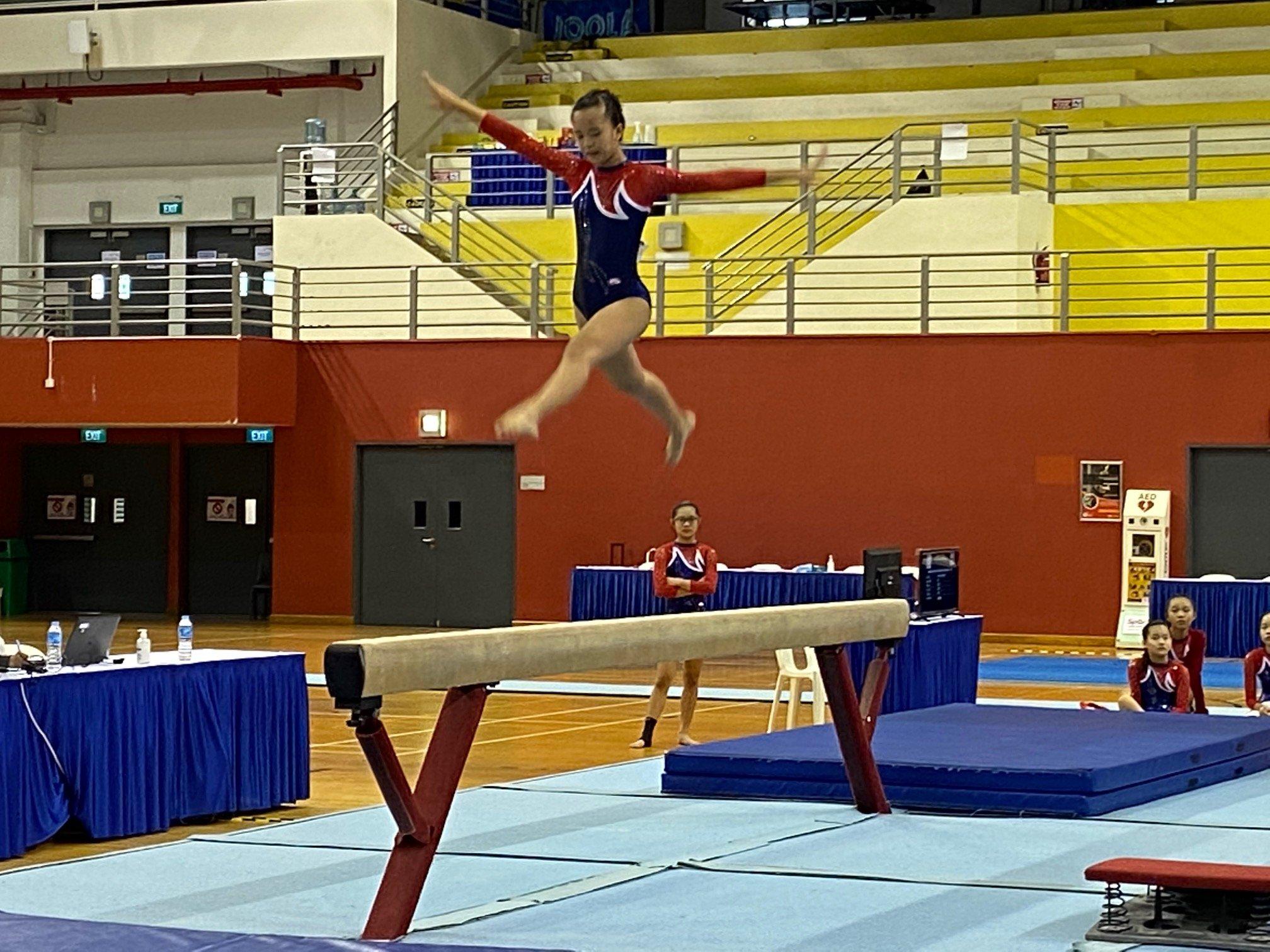 NSG Snr Div gymnastics - balance beam (Ai Tong) 3