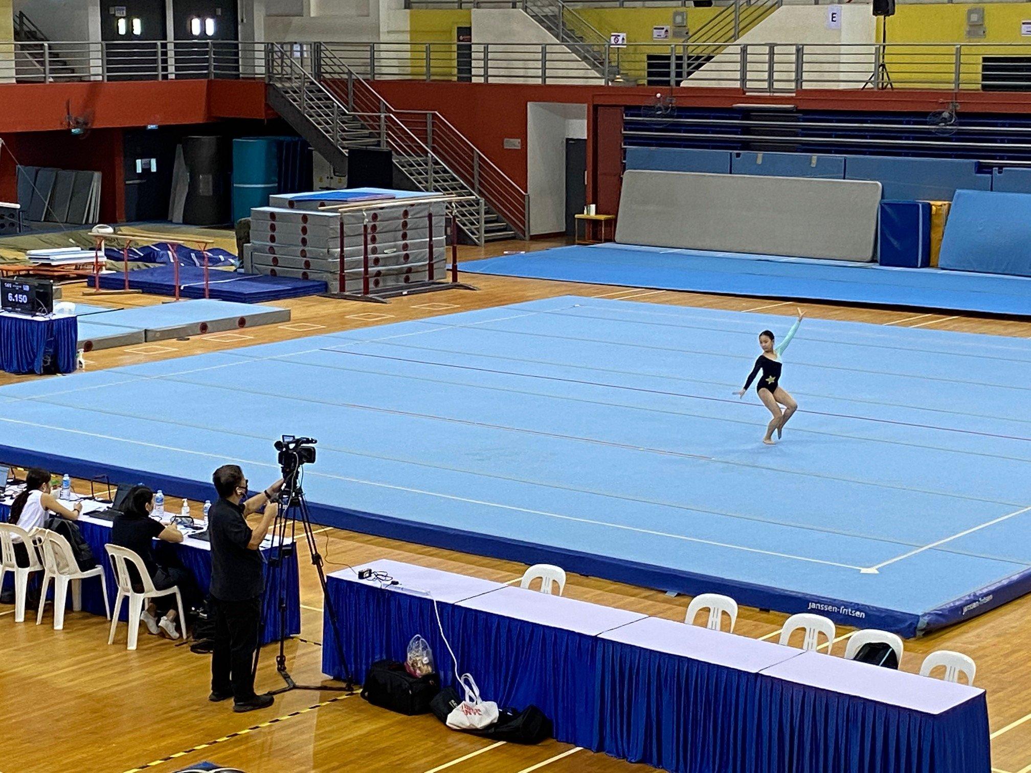 NSG Snr Div gymnastics - floor exercise (Springdale) 2-1
