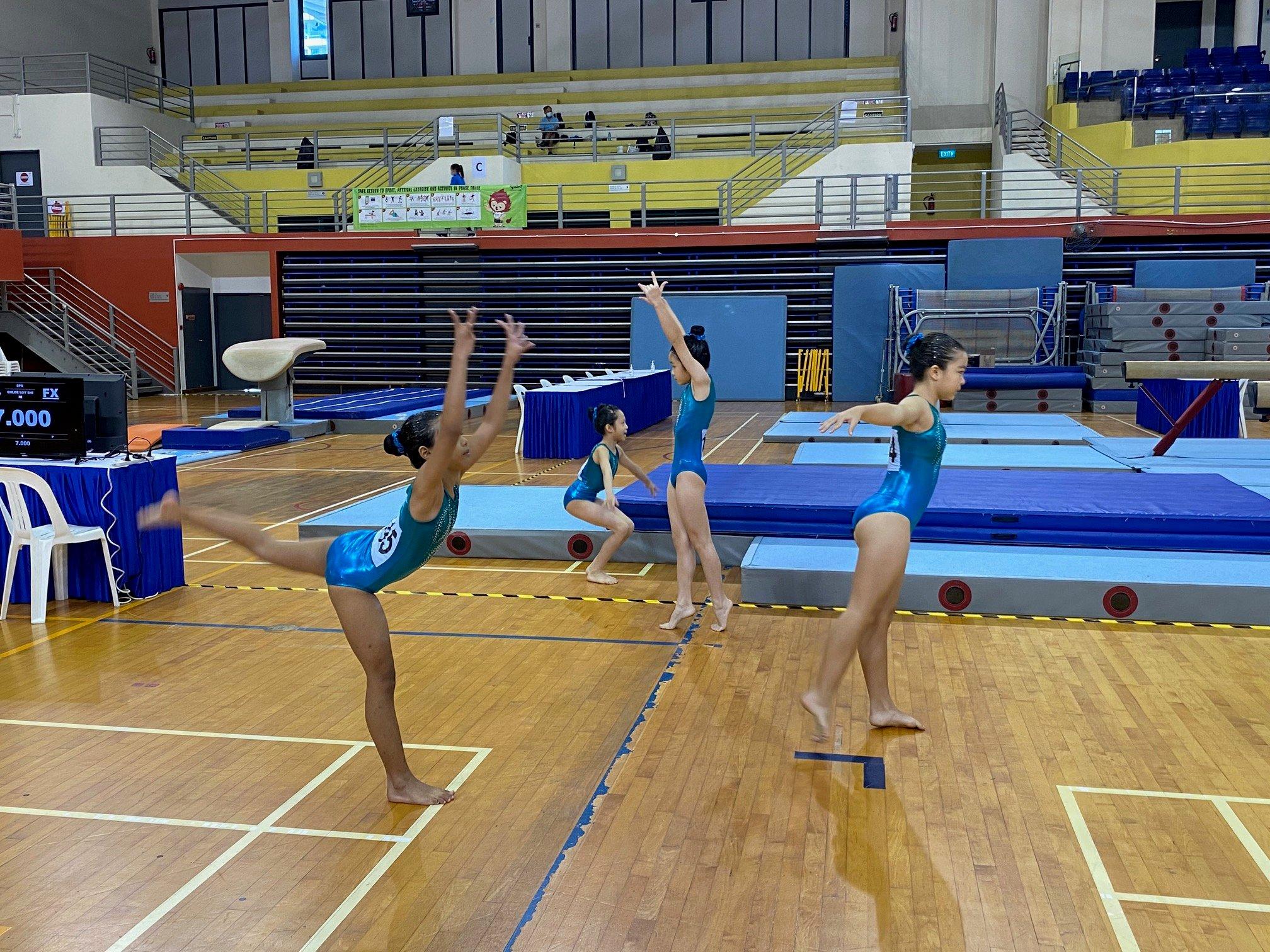 NSG Snr Div gymnastics - warm ups Marymount Convent