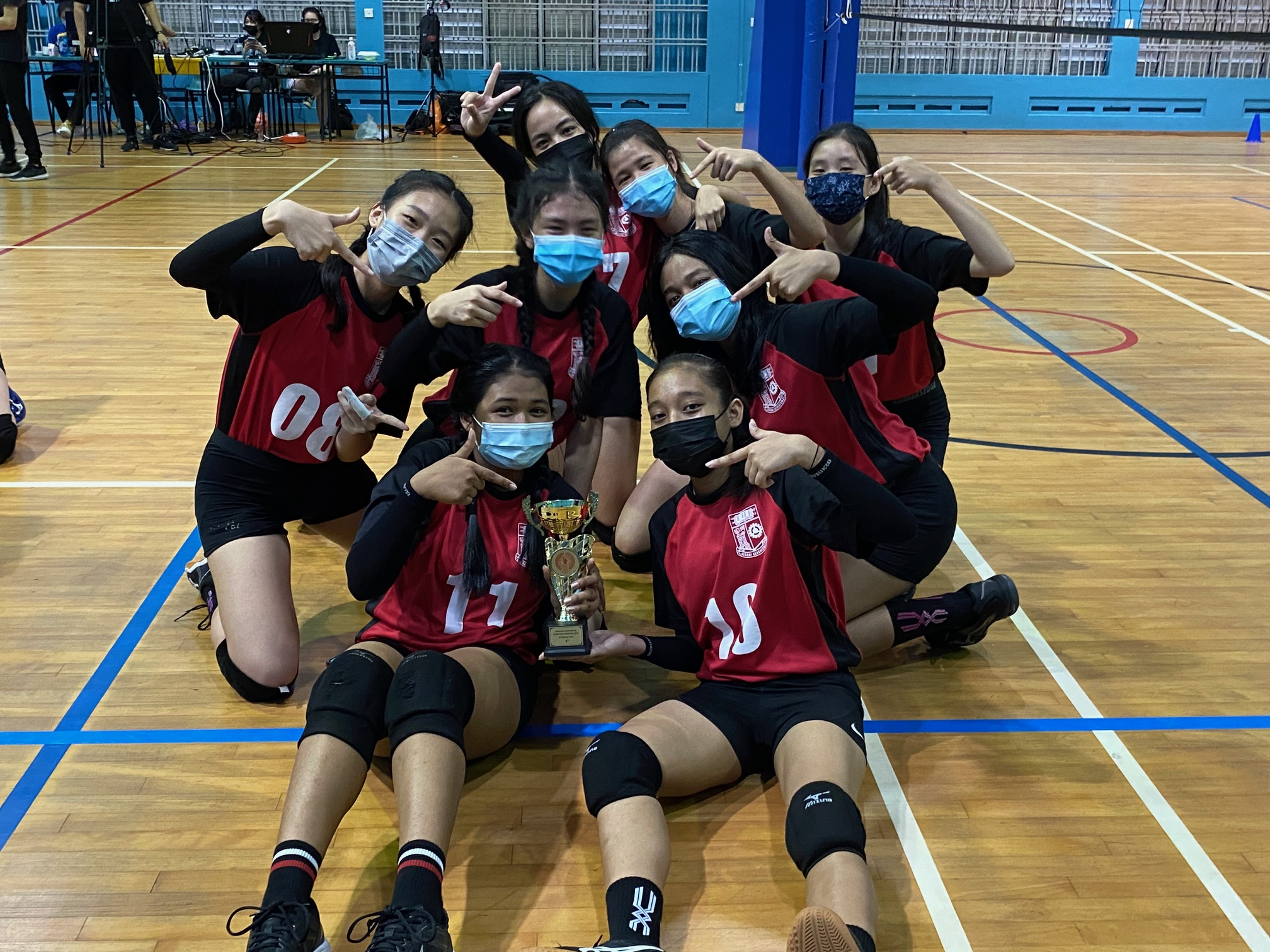 NSG South Zone B Div girls volleyball final - Queenstown (red)-1