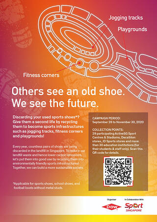 Dow and Sport Singapore partner to divert 300,000 pairs of shoes away from landfill into building new sports infrastructure