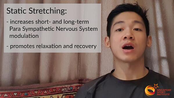 Static Stretching for Recovery