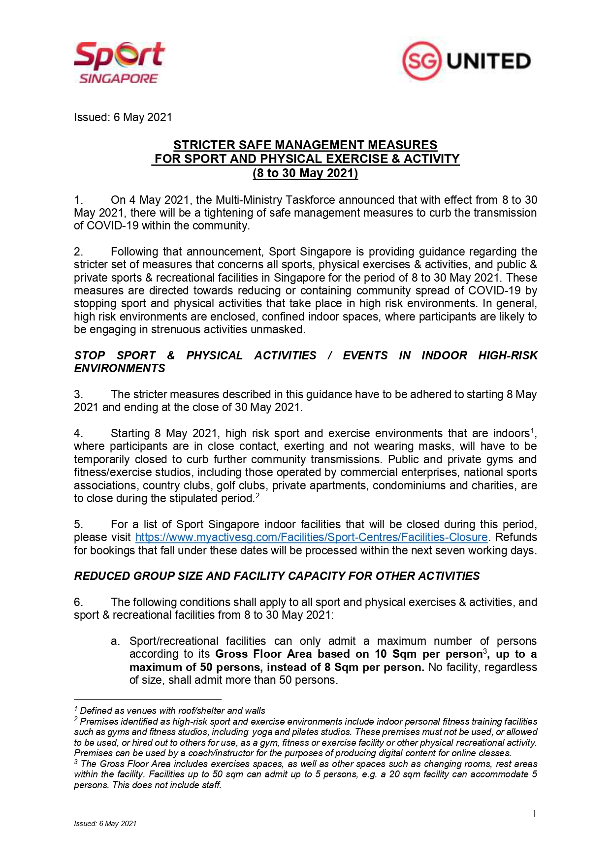 Stricter Safe Management Measures For Sport And Physical Exercise and Activity (8 to 30 May 2021) (2)_pages-to-jpg-0001