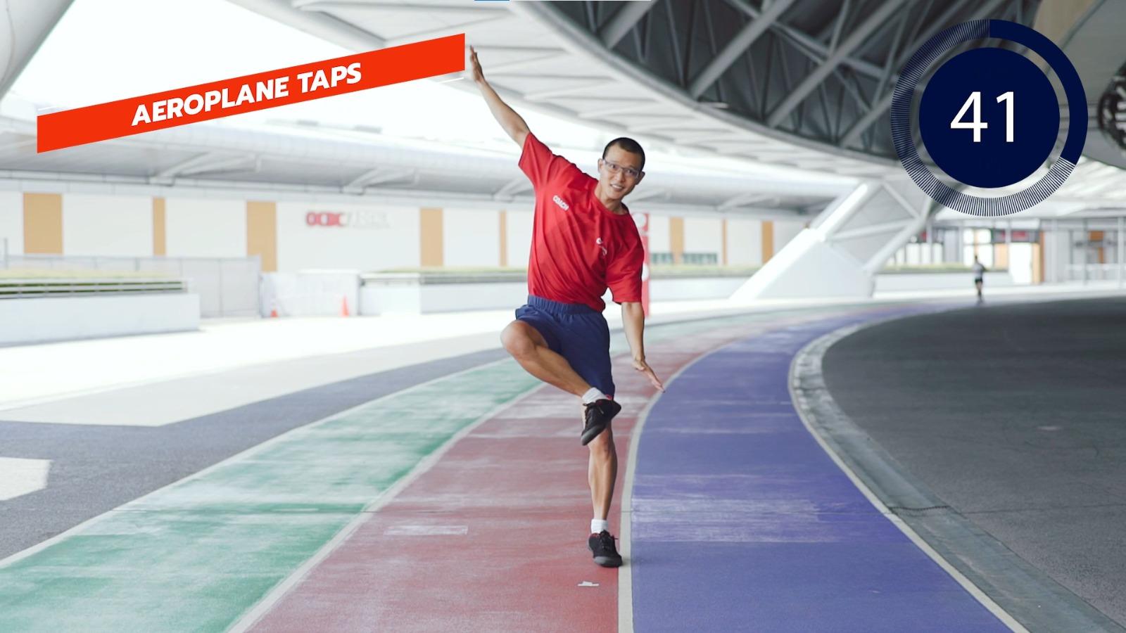 athletics aeroplane taps