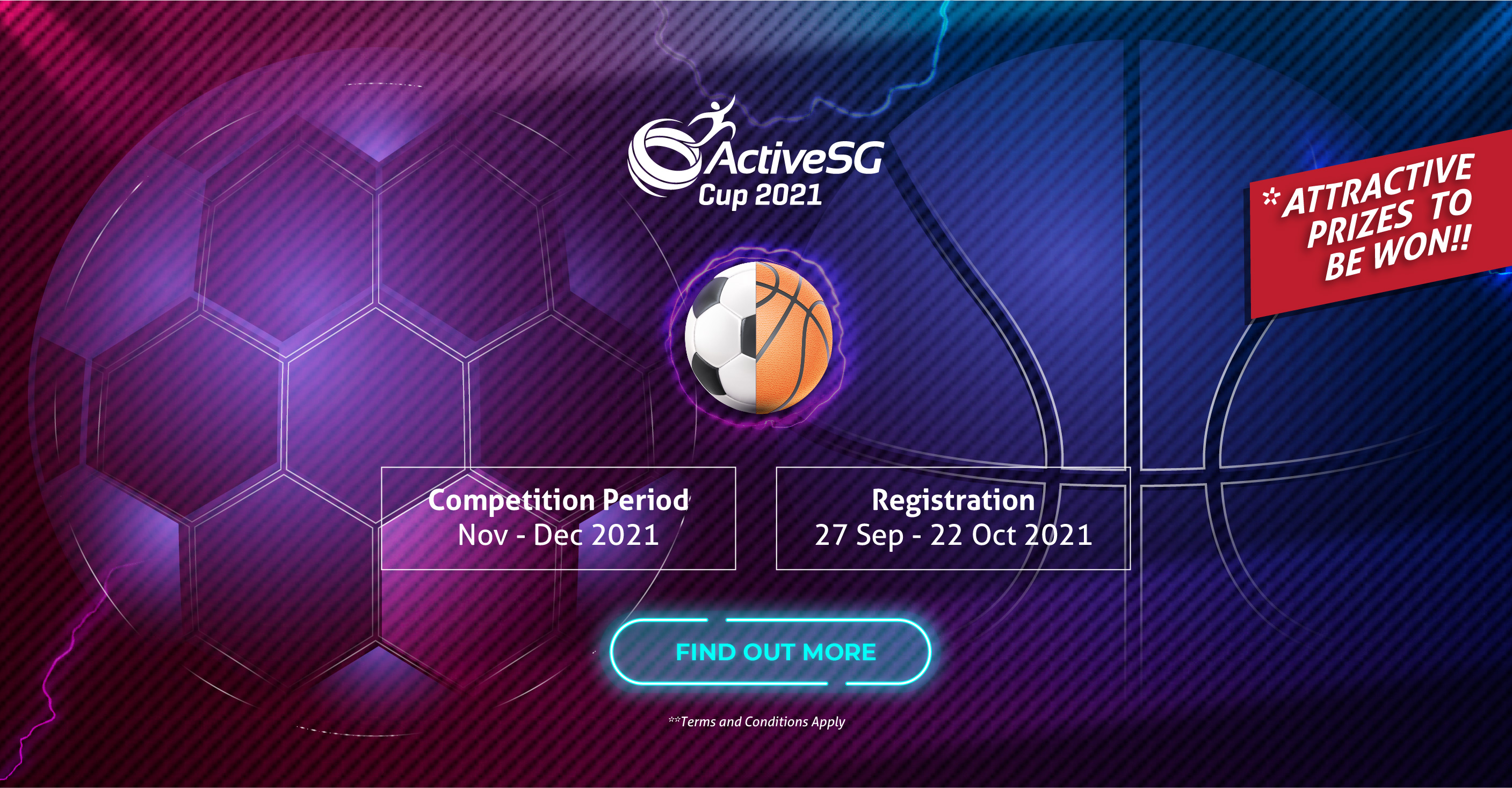 Call for ActiveSG Cup Partnership and Sponsorships