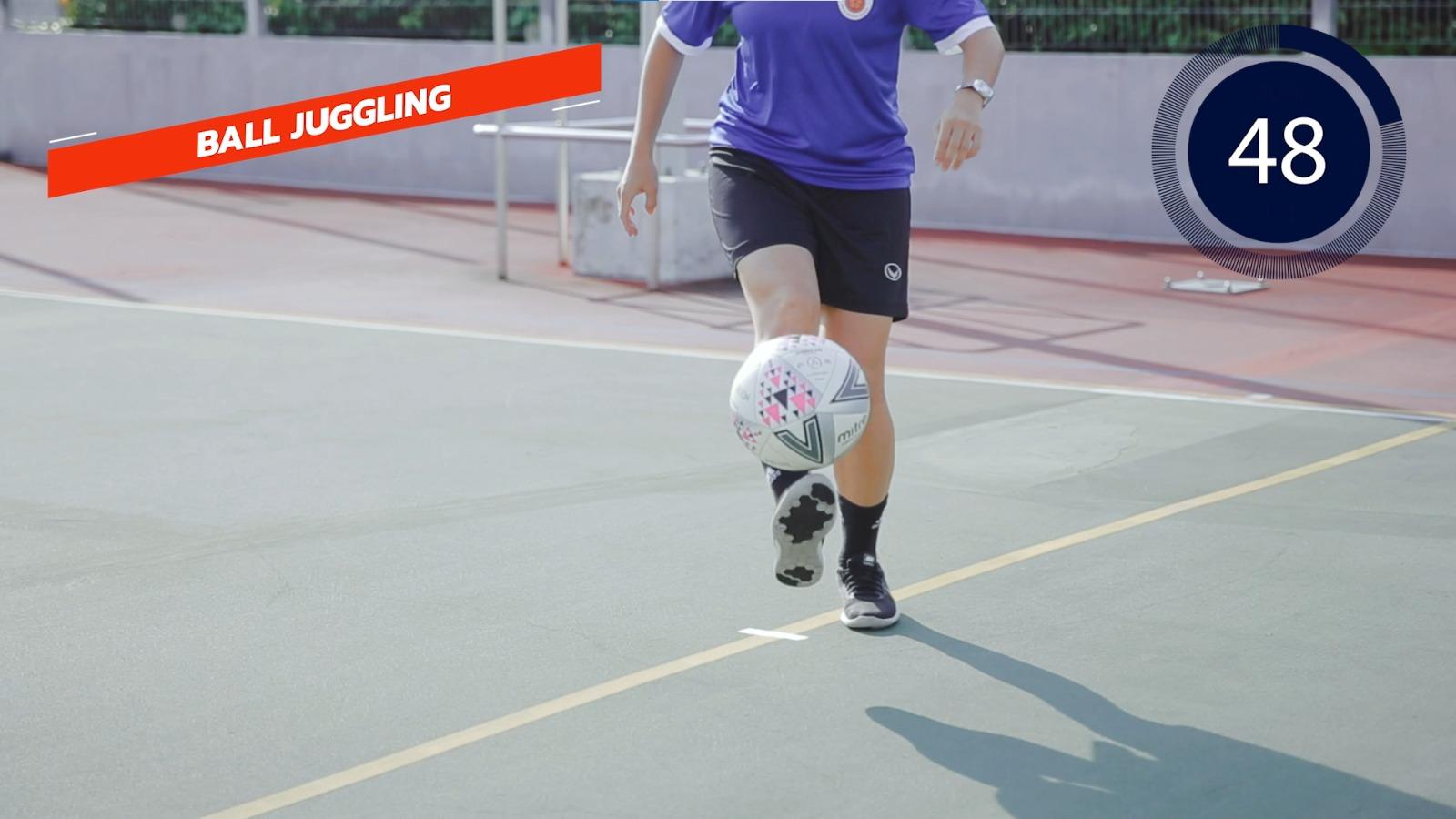 football - ball juggling