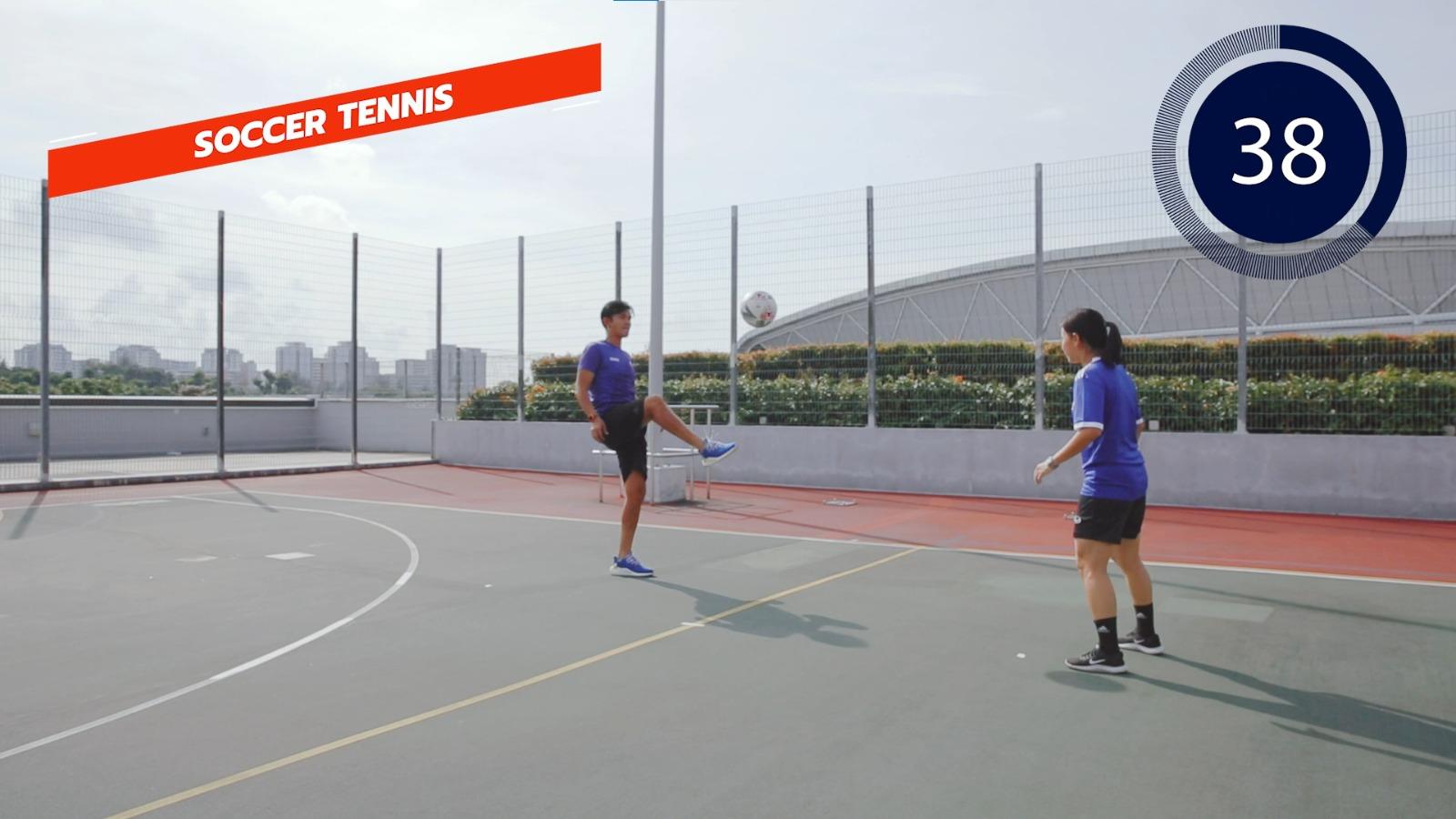 football - soccer tennis
