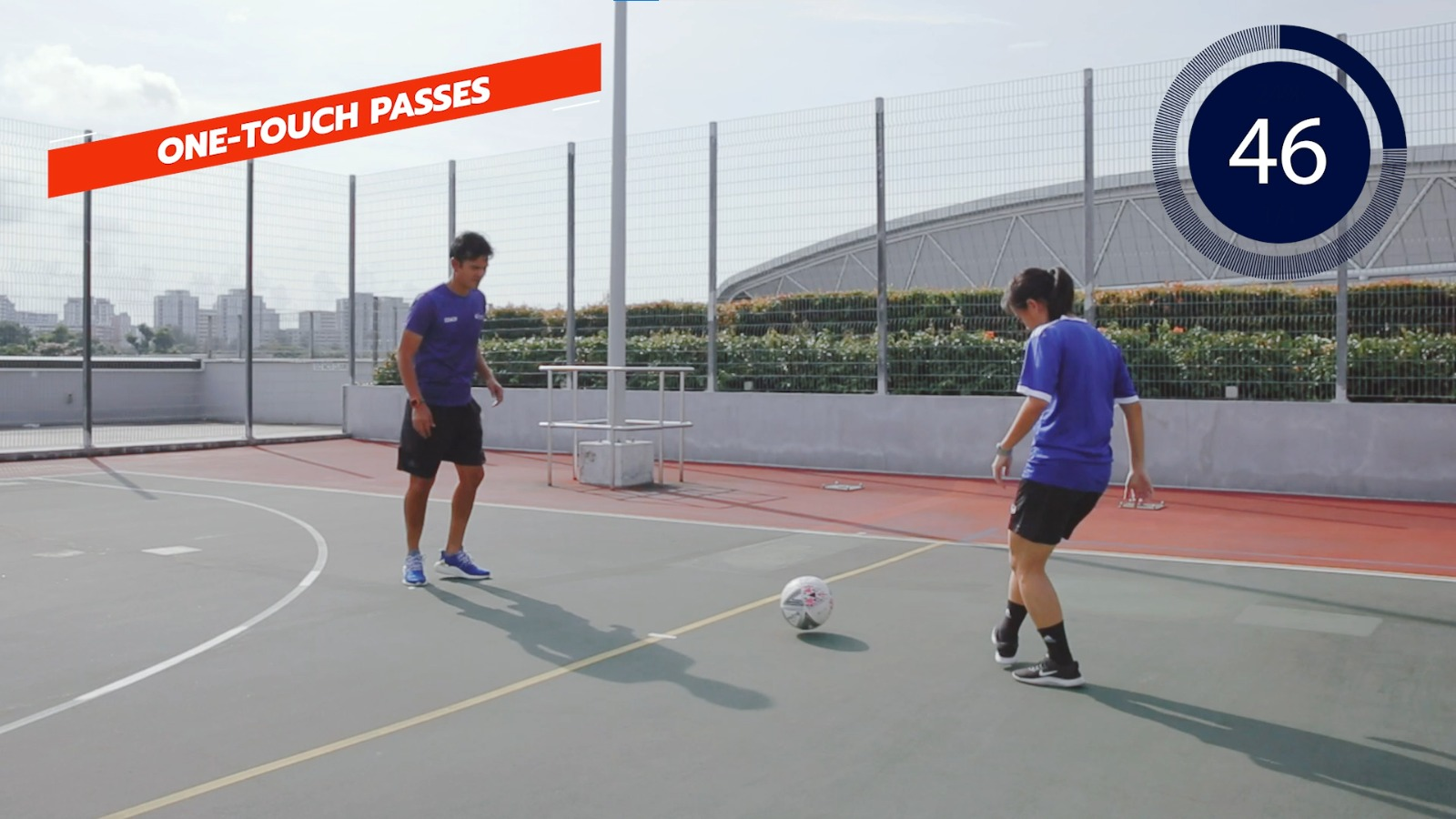 football one-touch passes