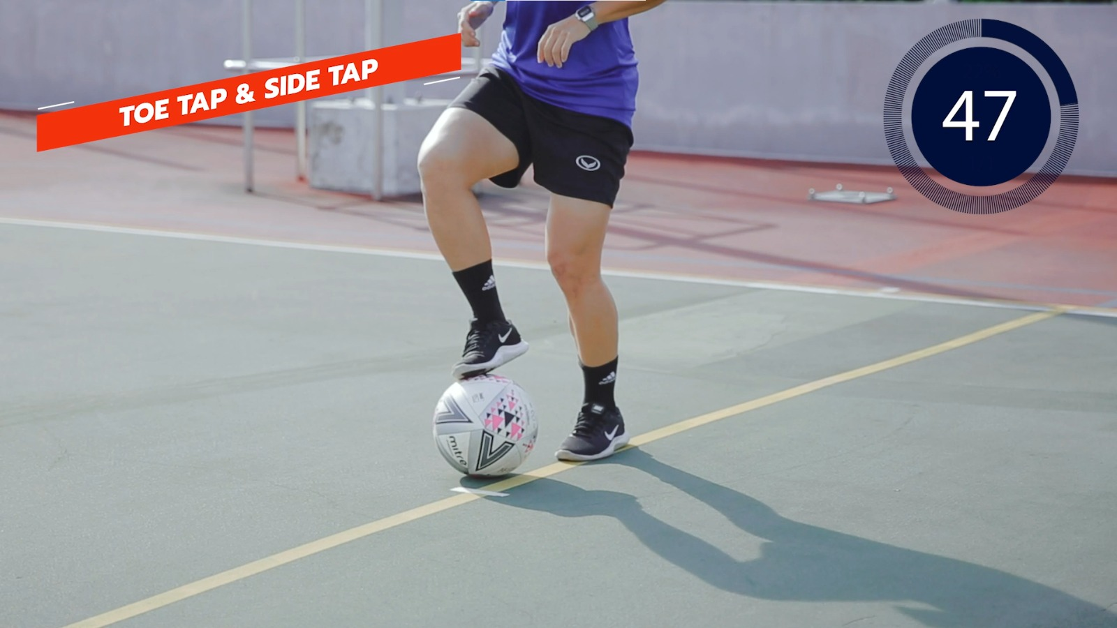 football toe tap and side tap