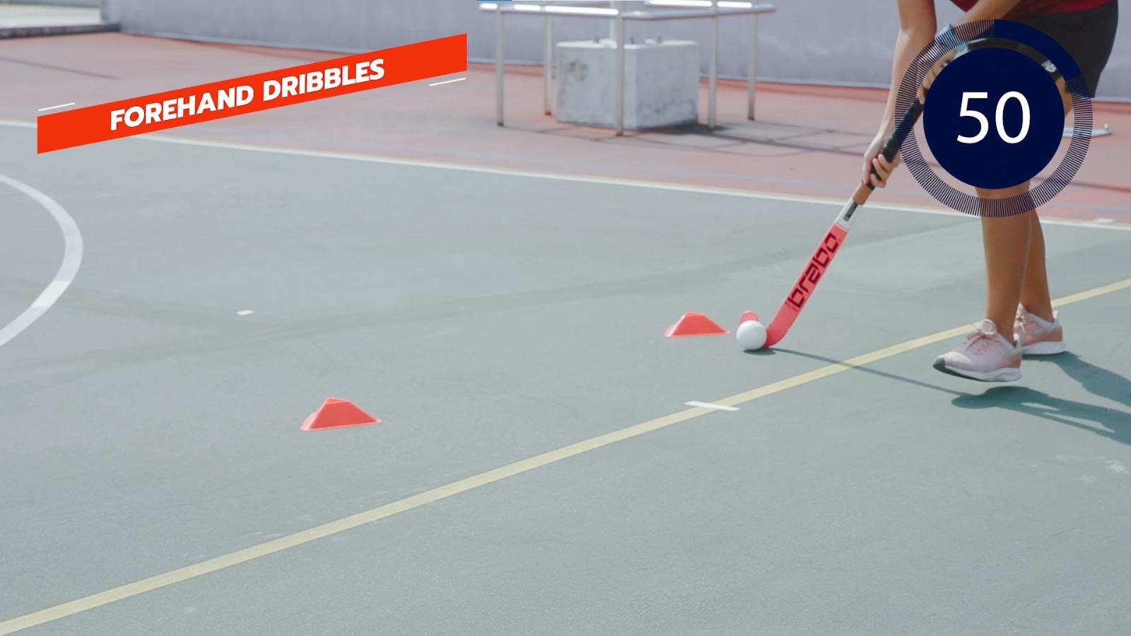 hockey forehand dribbles