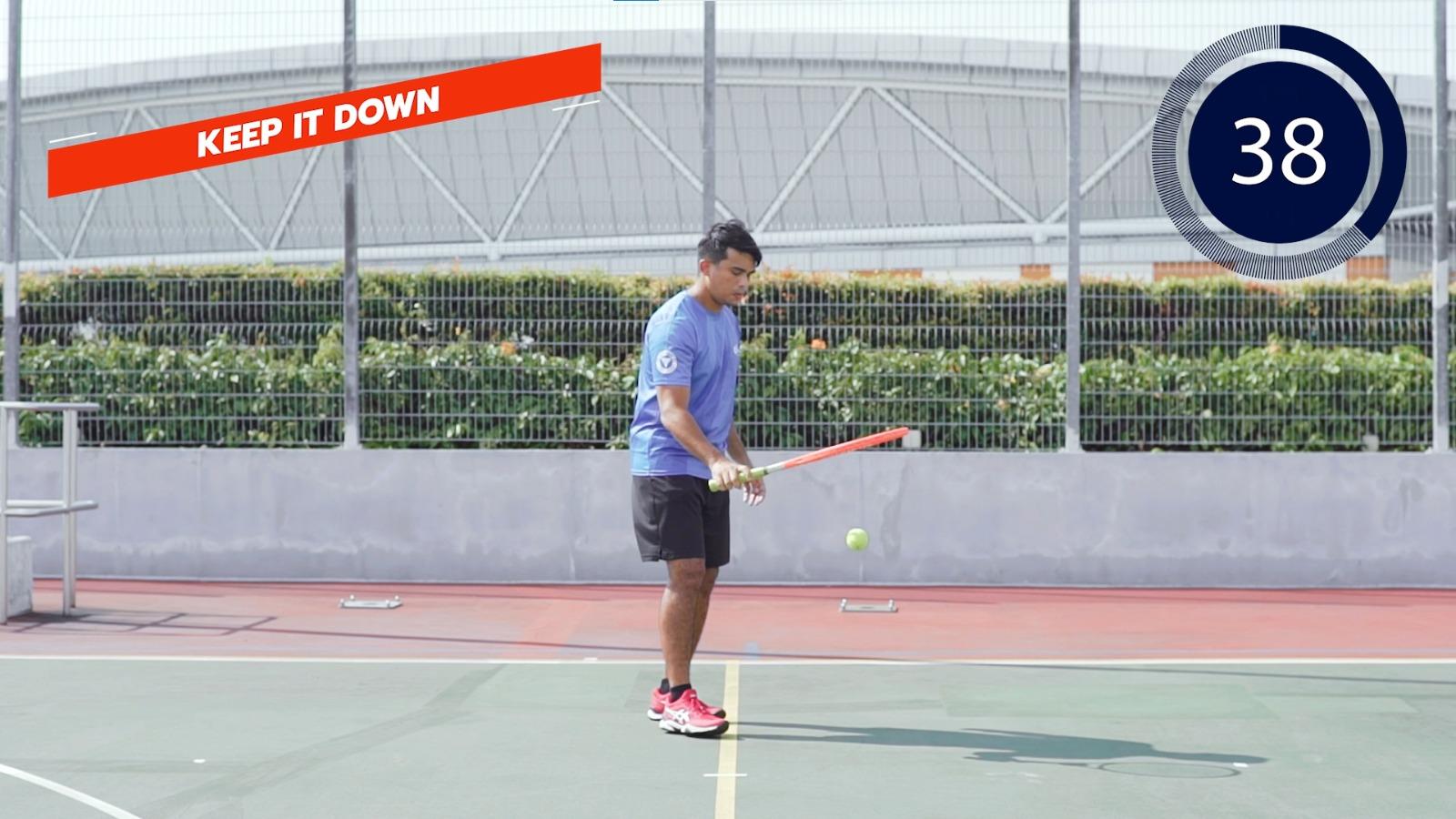 tennis keep it down