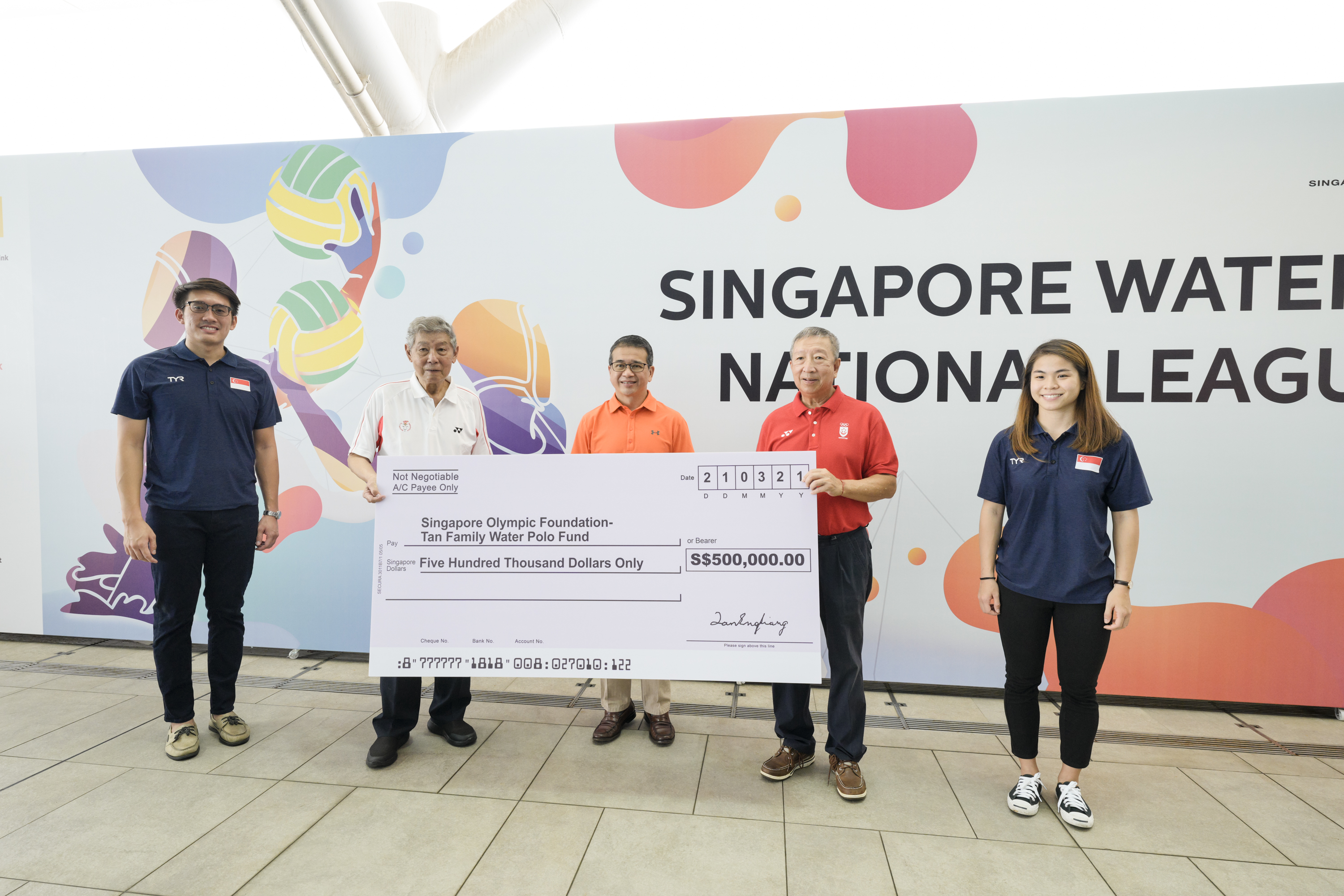 Singapore's top water polo family donates $500,000 to start fund for the sport