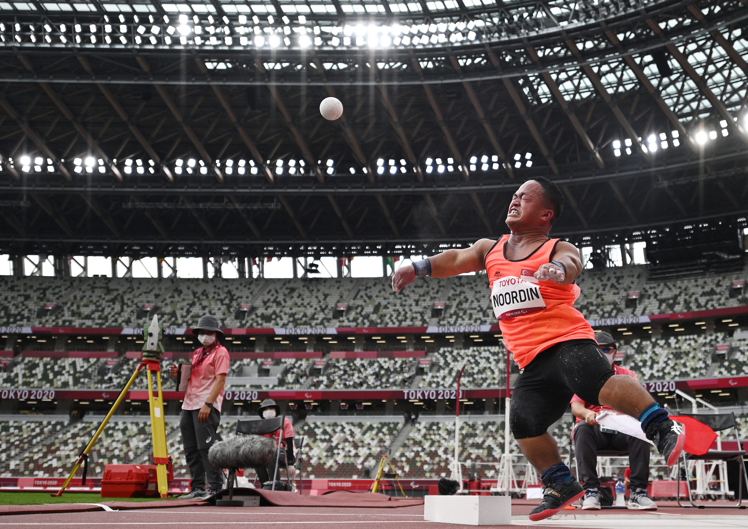 Tokyo 2020: TeamSG's Md Diroy Bin Noordin sets new National Record, in splendid Men's Shot Put F40 showing!