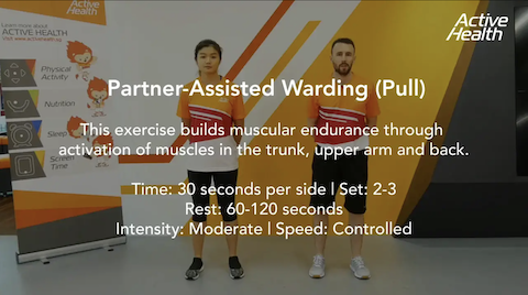 Active Health Exercises for Adults/Masters - Partner-Assisted Warding (Pull) Thumbnail