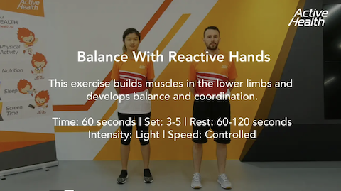 Active Health Exercises for Masters - Balance With Reactive Hands Thumbnail